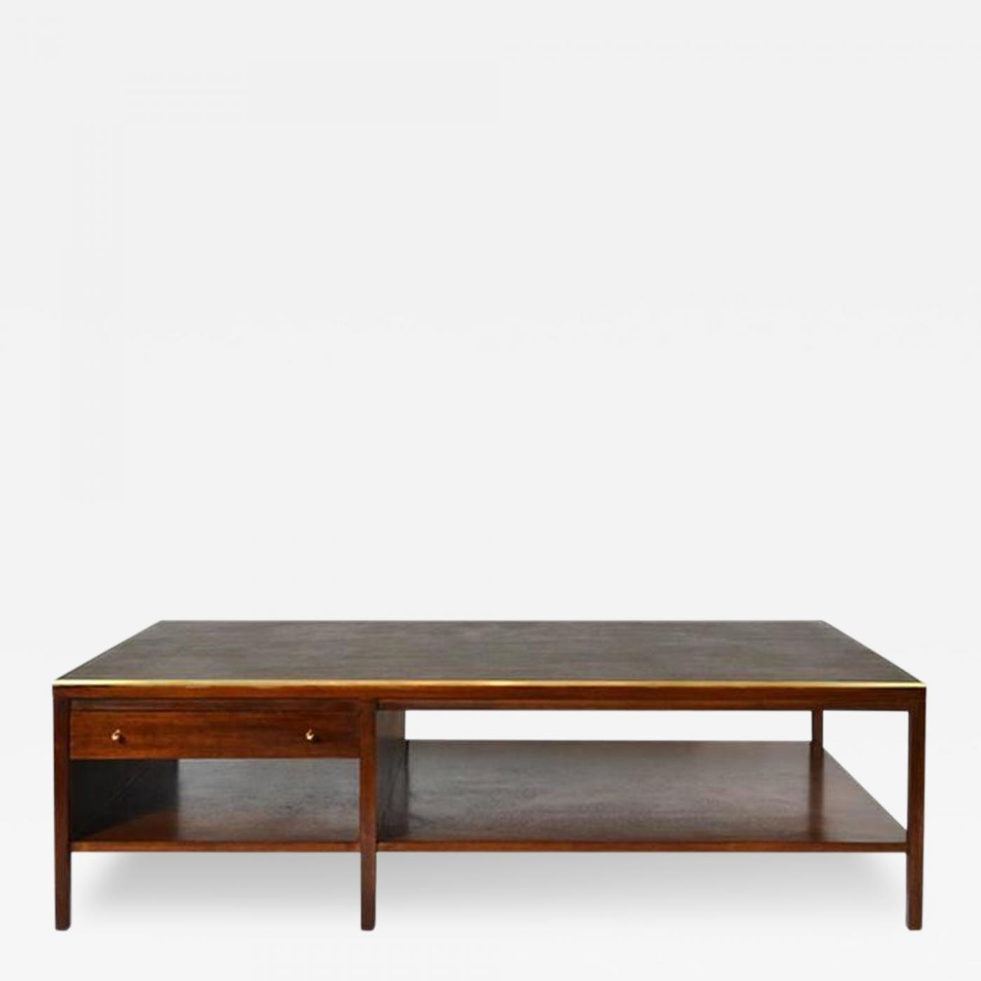 Paul McCobb Paul McCobb Leather Top Coffee Table Calvin Group