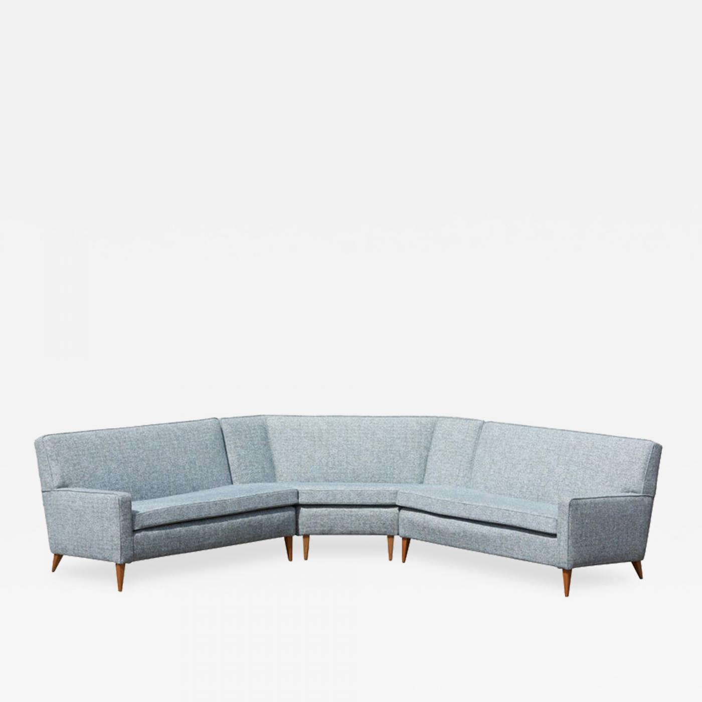 Paul McCobb - Paul McCobb Sectional Corner Sofa Custom Craft/ Planner Group  Newly Upholstered