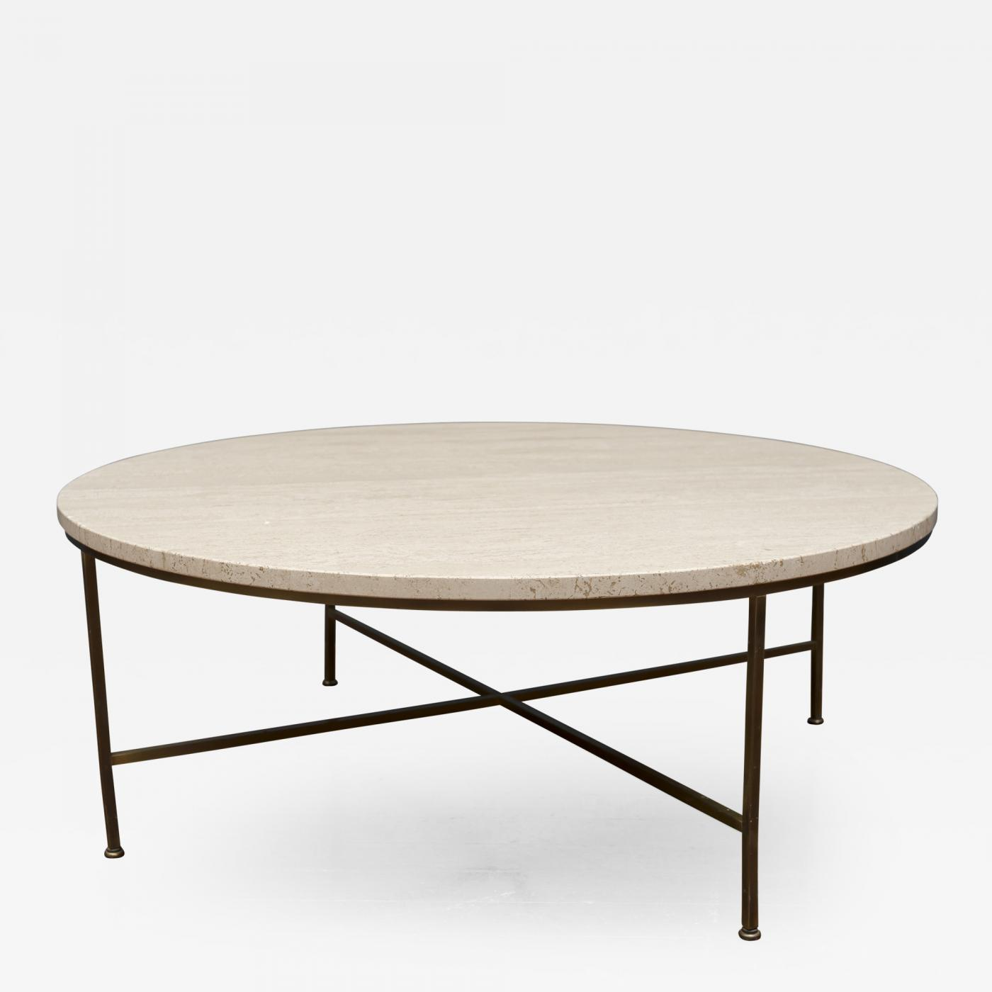 Paul Mccobb Paul Mccobb Travertine Round Coffee Table