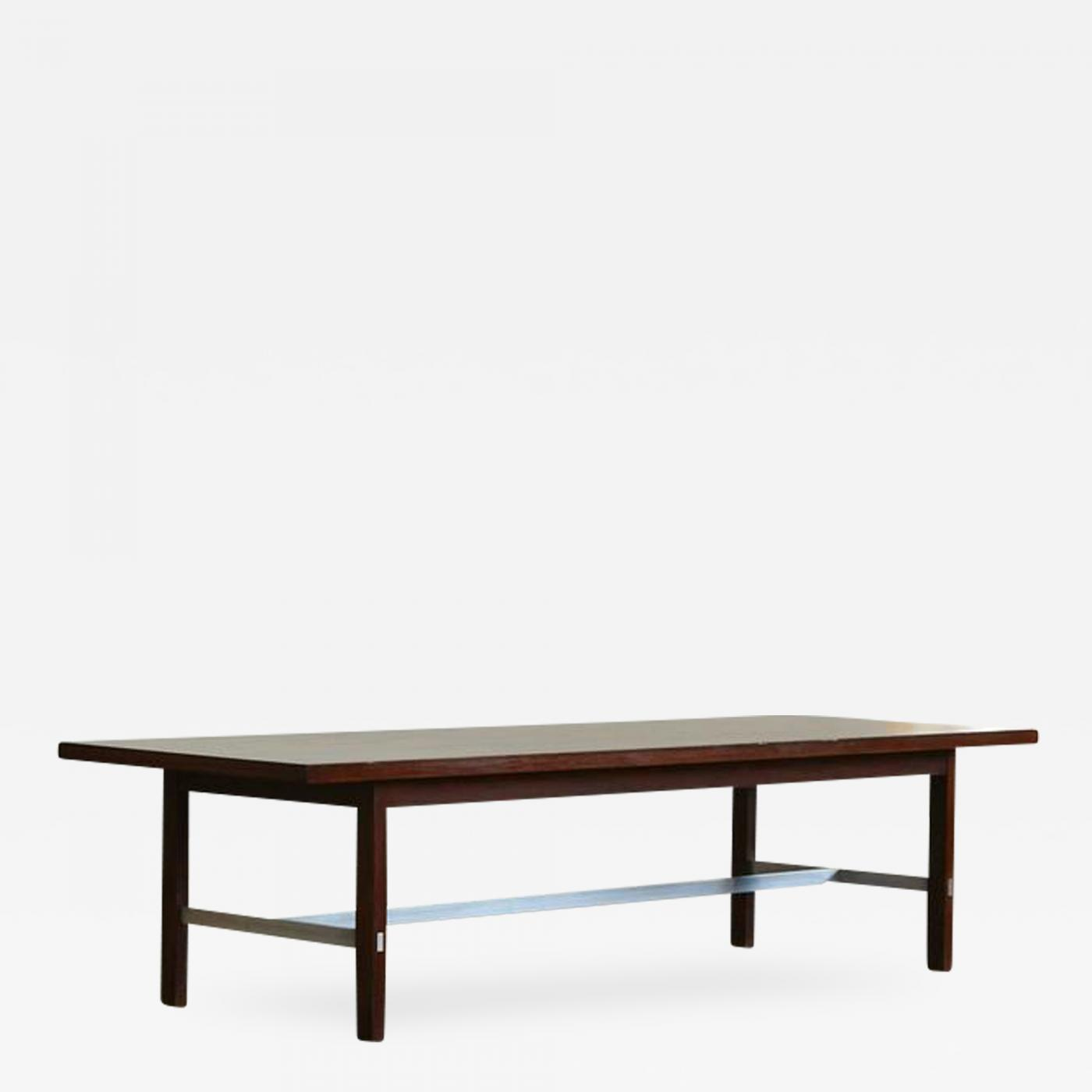 Paul McCobb Paul McCobb Walnut and Aluminum Coffee Table for