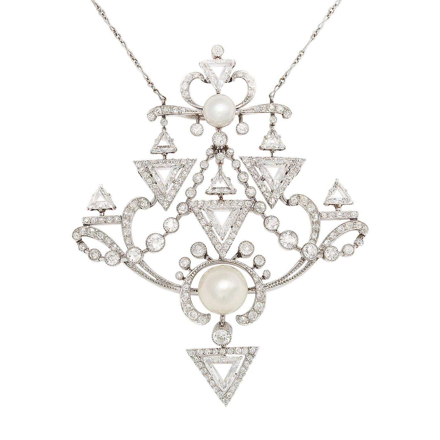 antique diamond early and art necklaces deco pearl pendant jewellery natural pendants