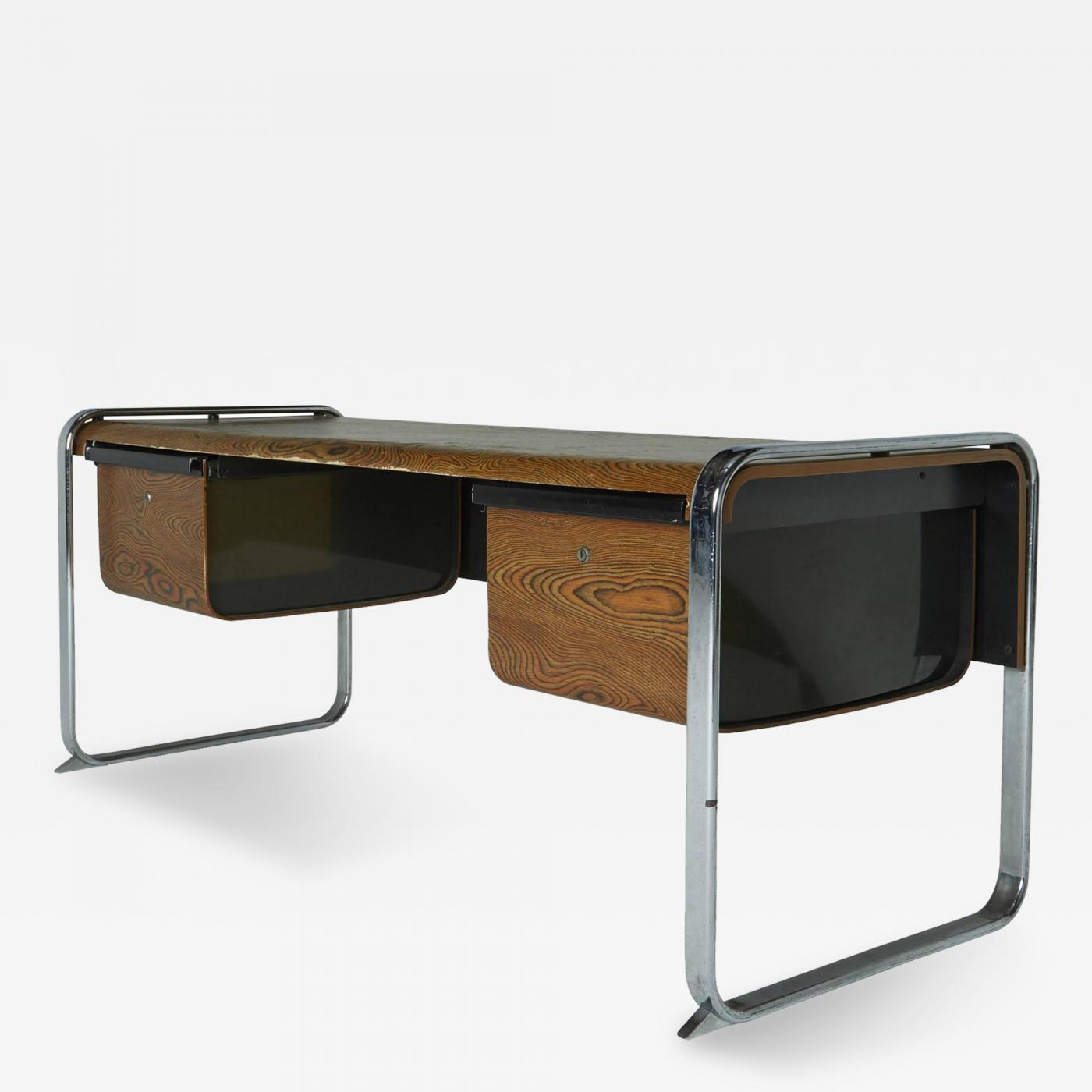Peter Protzman Exotic Zebrawood Desk by Peter Protzman for