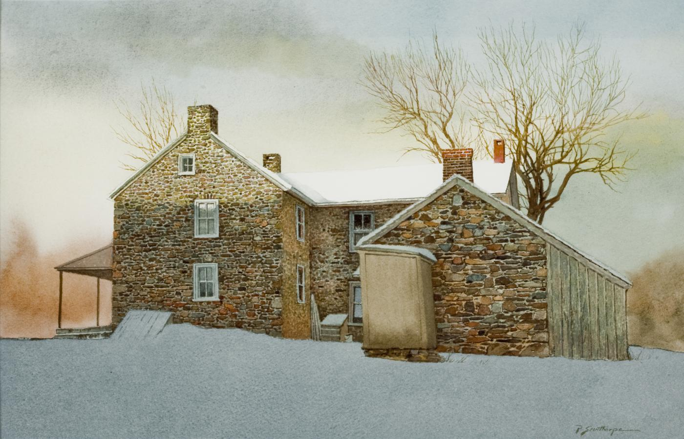 Peter Sculthorpe Quot Stone Farm House In Snow Quot