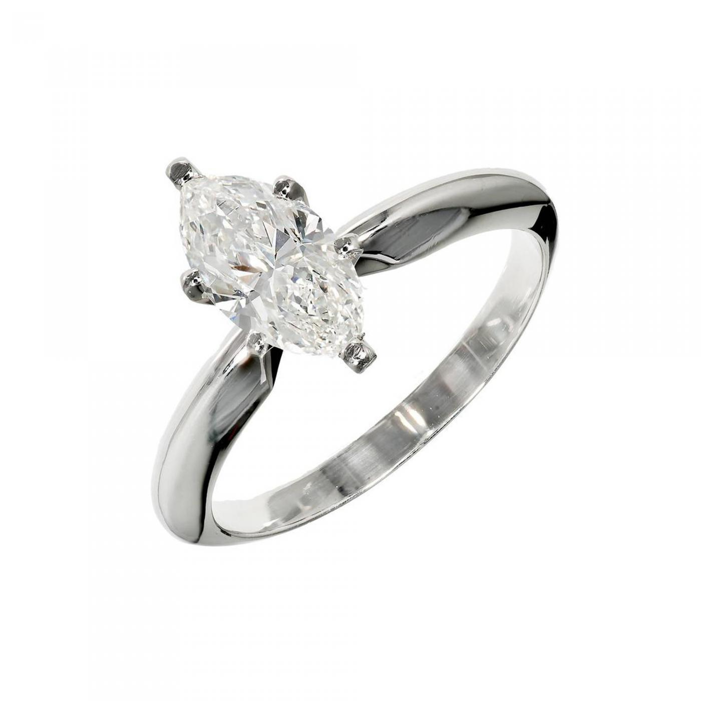 image engagement womens ring solitaire round diamond certified rings delicate igi platinum