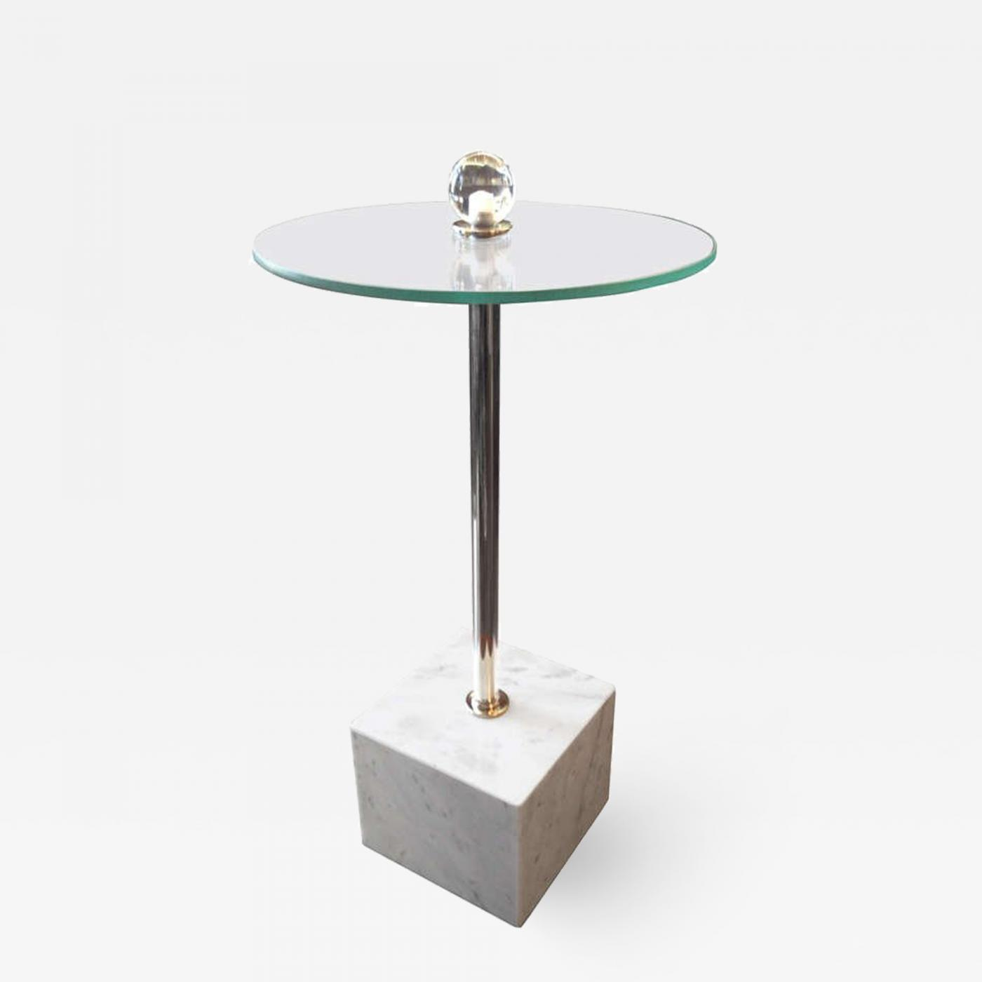 Picture of: Petite Drinks Table With Marble Base