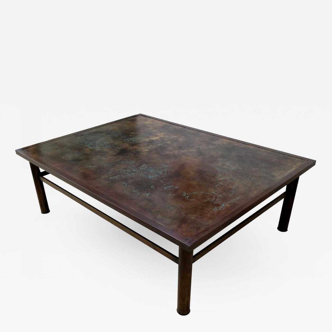 Philip Laverne Coffee Table.Philip And Kelvin Laverne Bronze Laverne Coffee Table With Zodiac Motif