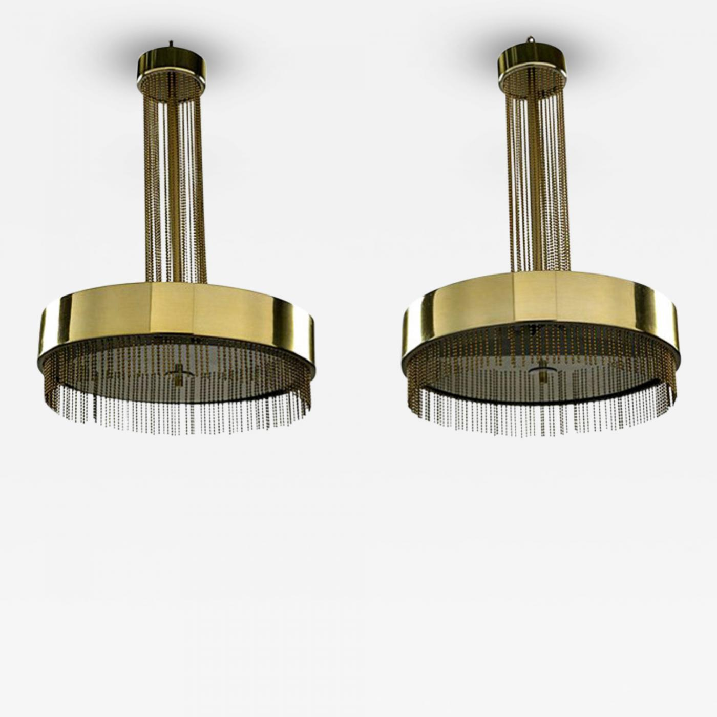 Brass Chandelier Ceiling Lights : Pierre cardin a pair of french brass chandelier ceiling