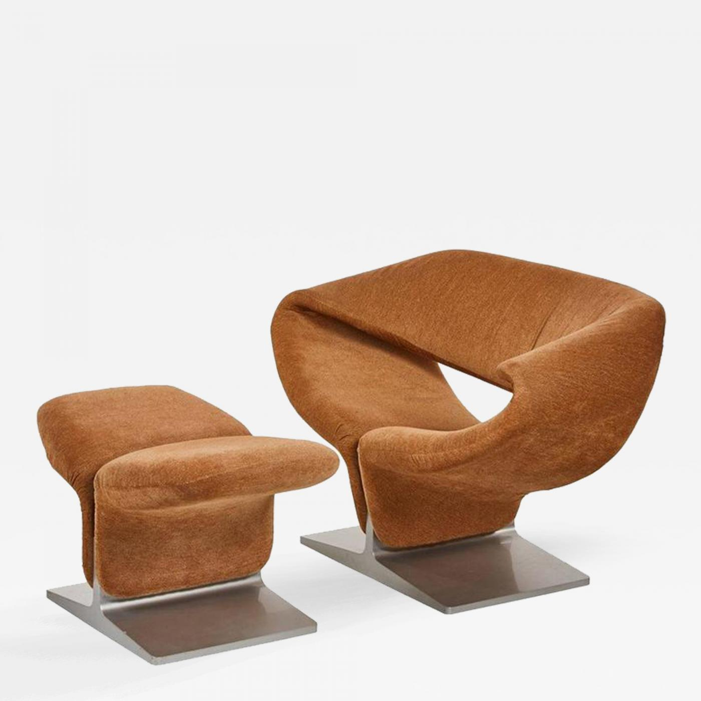 Pierre Paulin Pierre Paulin Ribbon Chair And Ottoman Manufactured By  Artifort