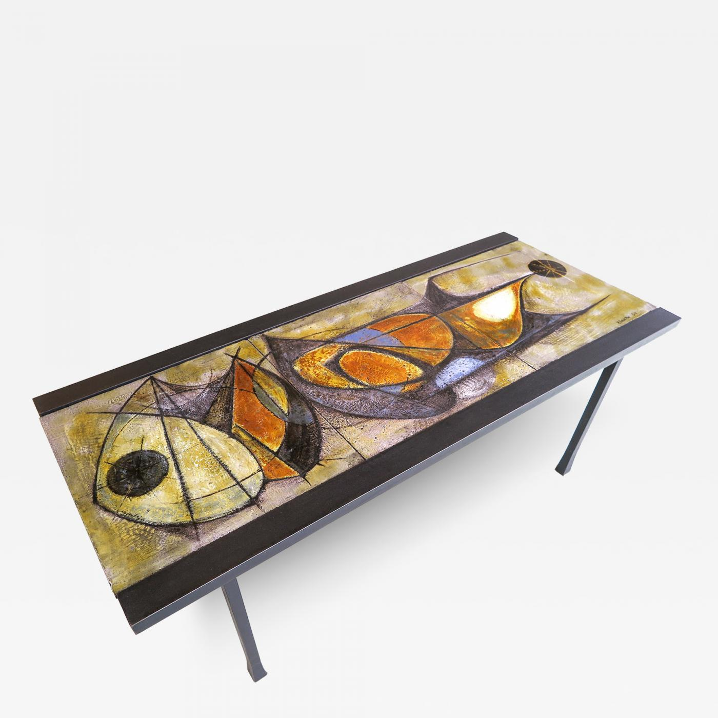 Pierre SaintPaul French Ceramic Coffee Table by artist Pierre