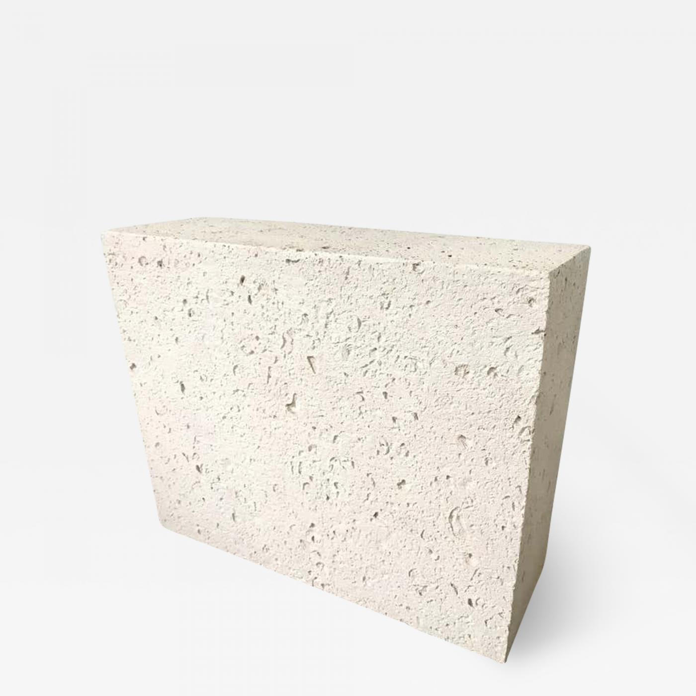 Postmodern Monolythic Cast Stone Concrete Console Table Or Pedestal Base