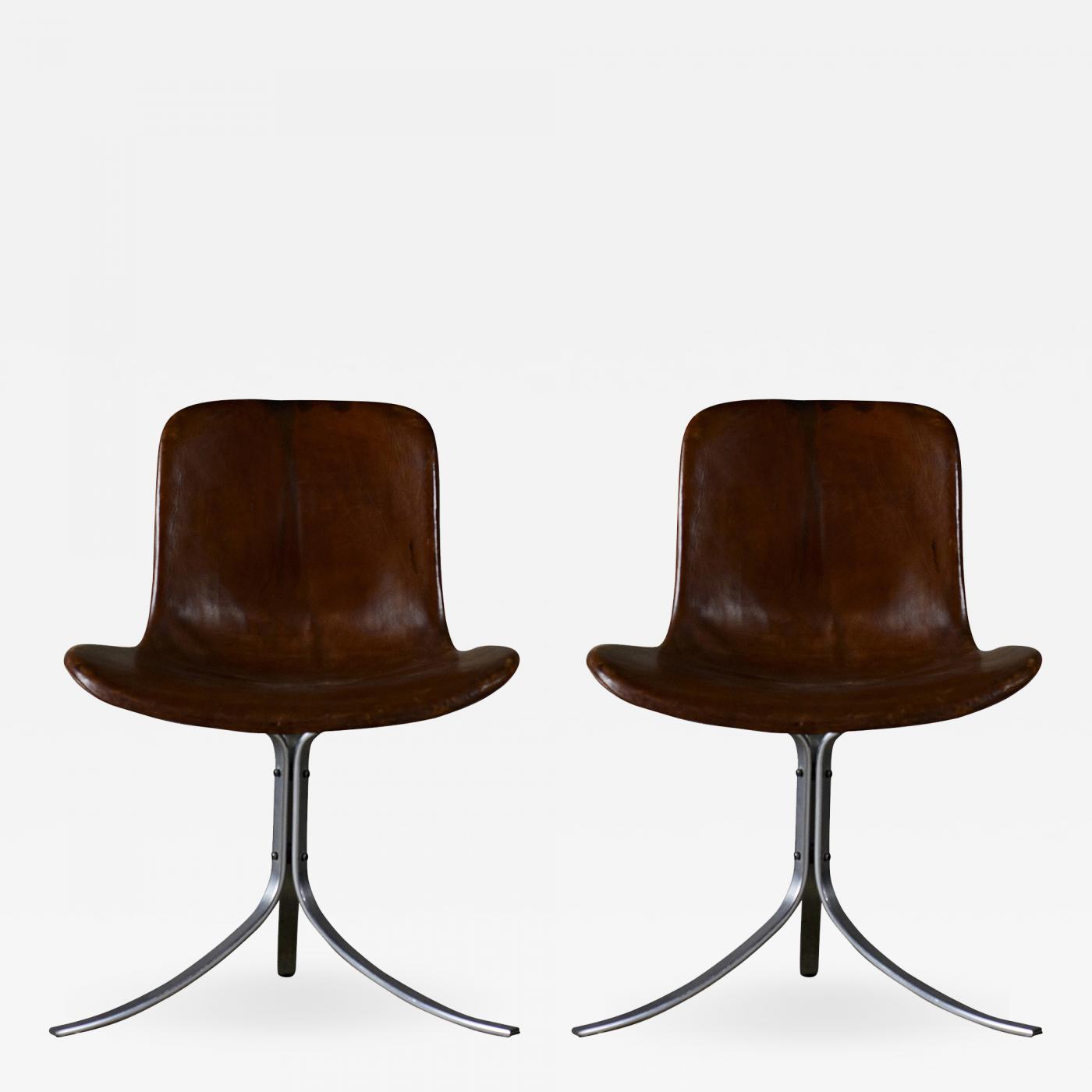 Poul Kj u00e6rholm Pair of Poul Kjaerholm PK9 Chairs