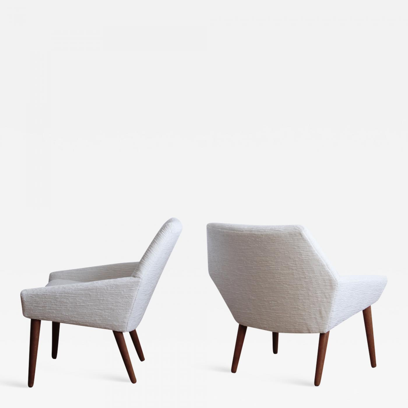 Pair Of Danish Modern Lounge Chairs By Poul Thorsbjerg Jensen For PMJ