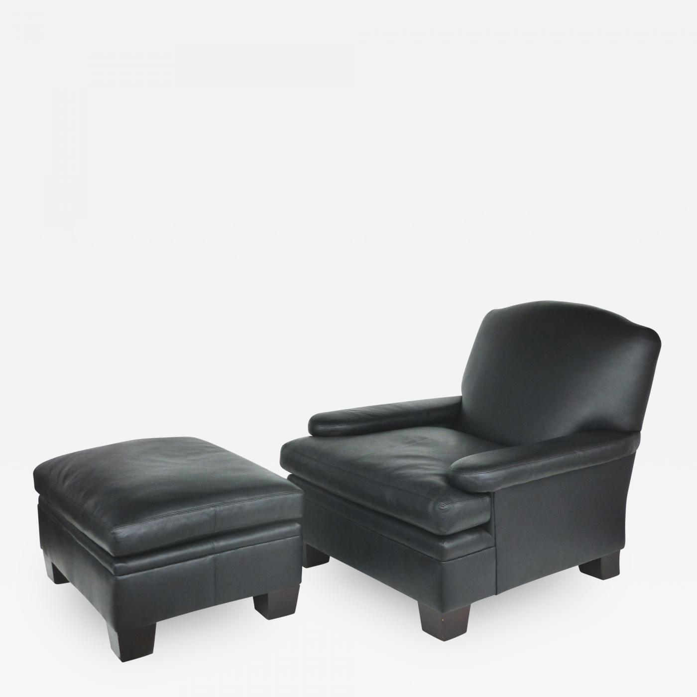 Ralph Lauren - Ralph Lauren London Leather Club Chair with Matching  Ottoman, 2 Sets Available