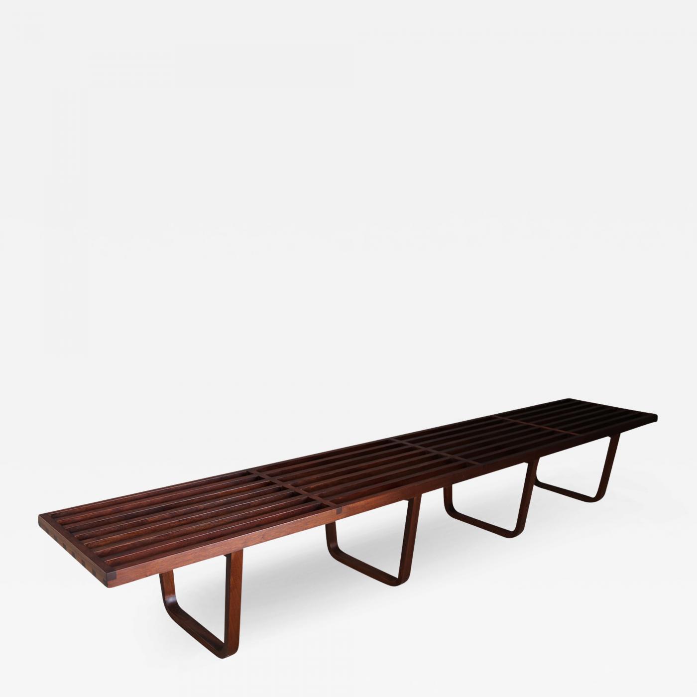 Rare Mid Century Bench In 50 S Mahogany Wood
