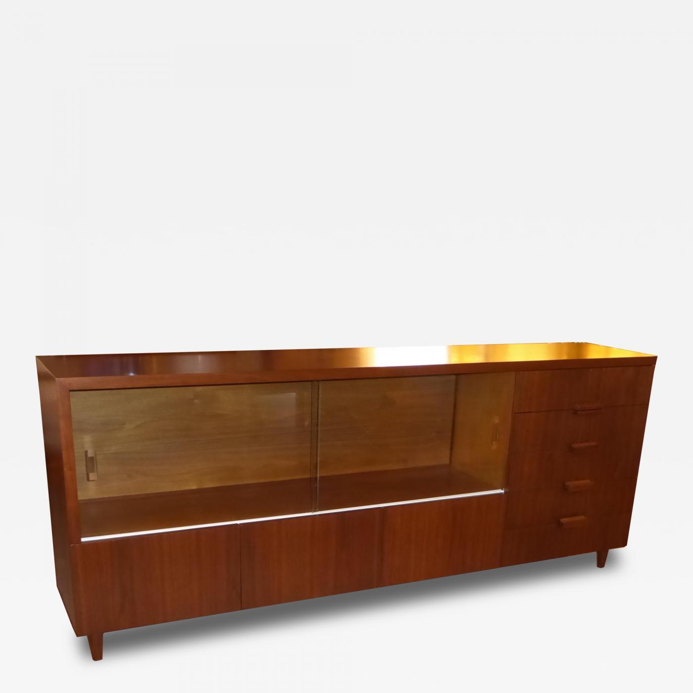 Robert Law Weed - Custom Designed 1950\u0027s Walnut Credenza by MIMO ...