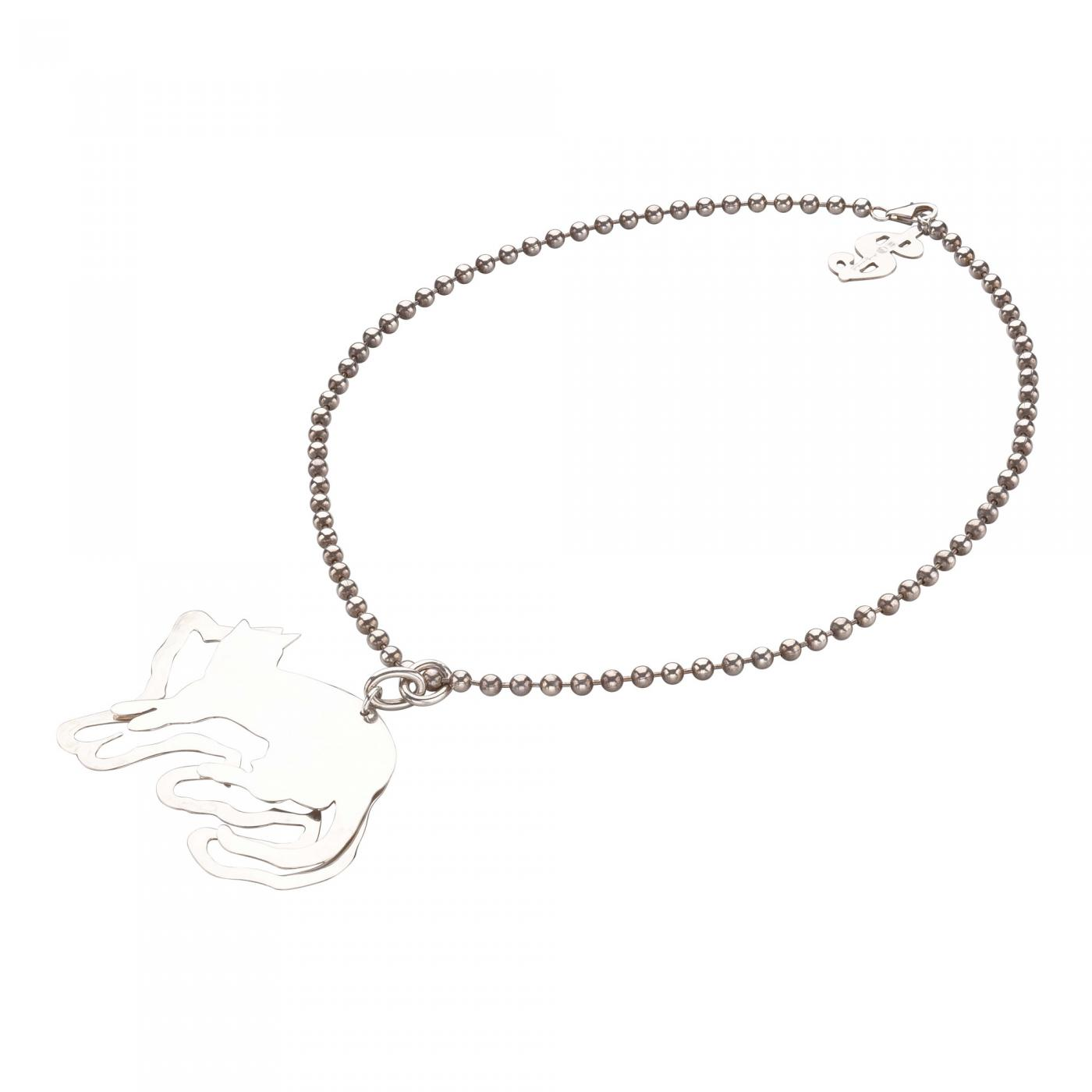 necklace whiter cat cute silver zoom view product little side