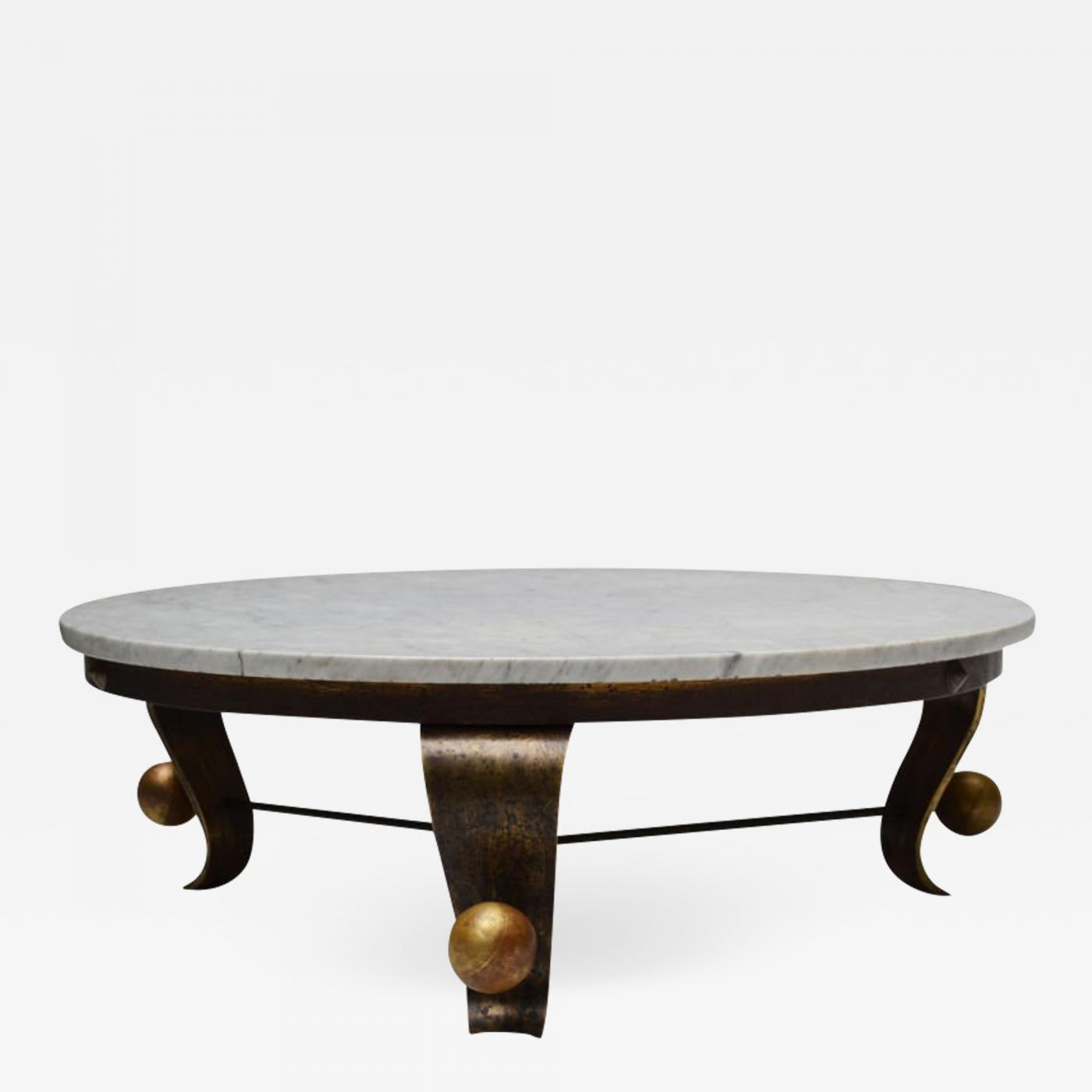 Roberto And Mito Block Carrara Marble Top Cocktail Table