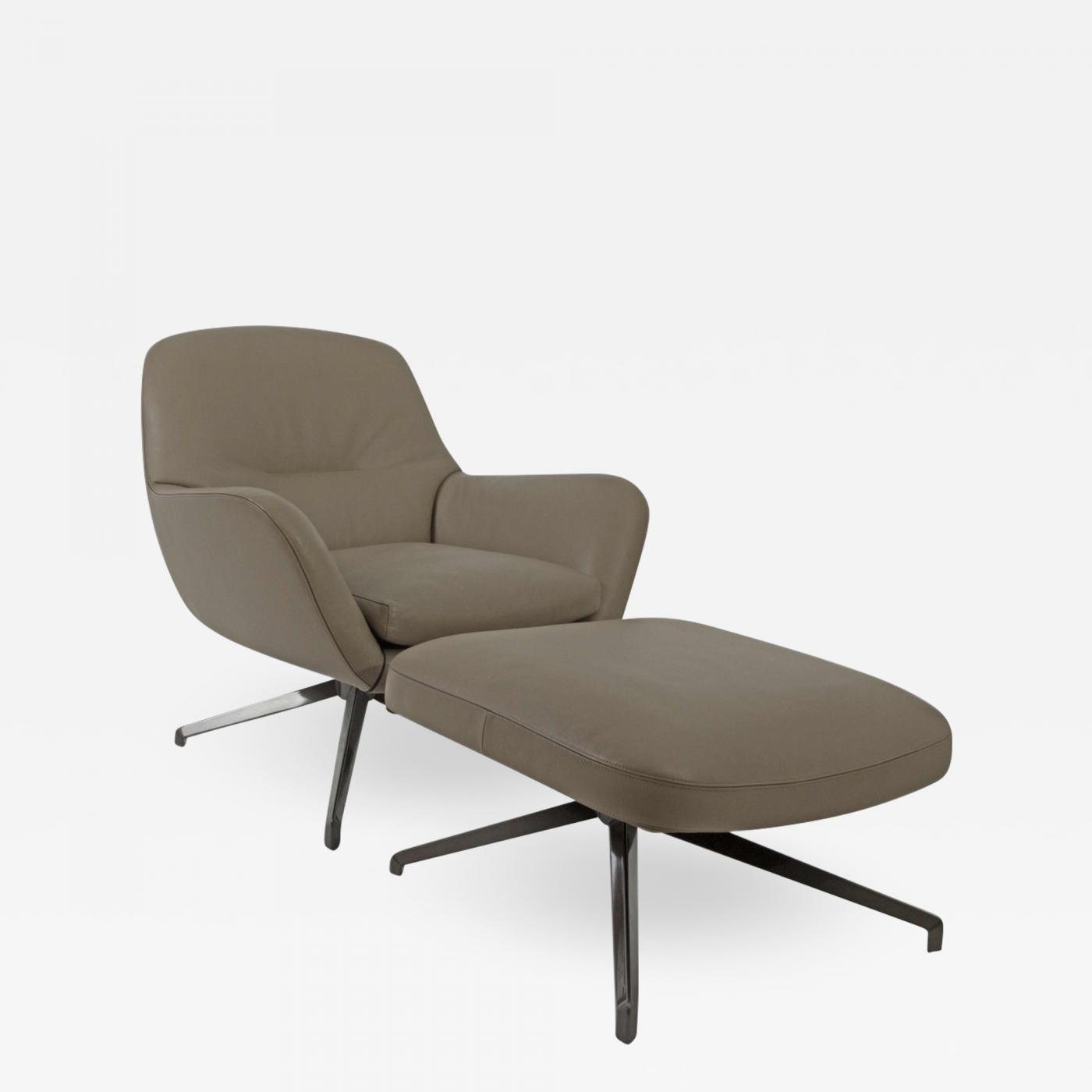 Cool Rodolfo Dordoni Rodolfo Dordoni Minotti Jensen Swivel Chair Ottoman Pabps2019 Chair Design Images Pabps2019Com