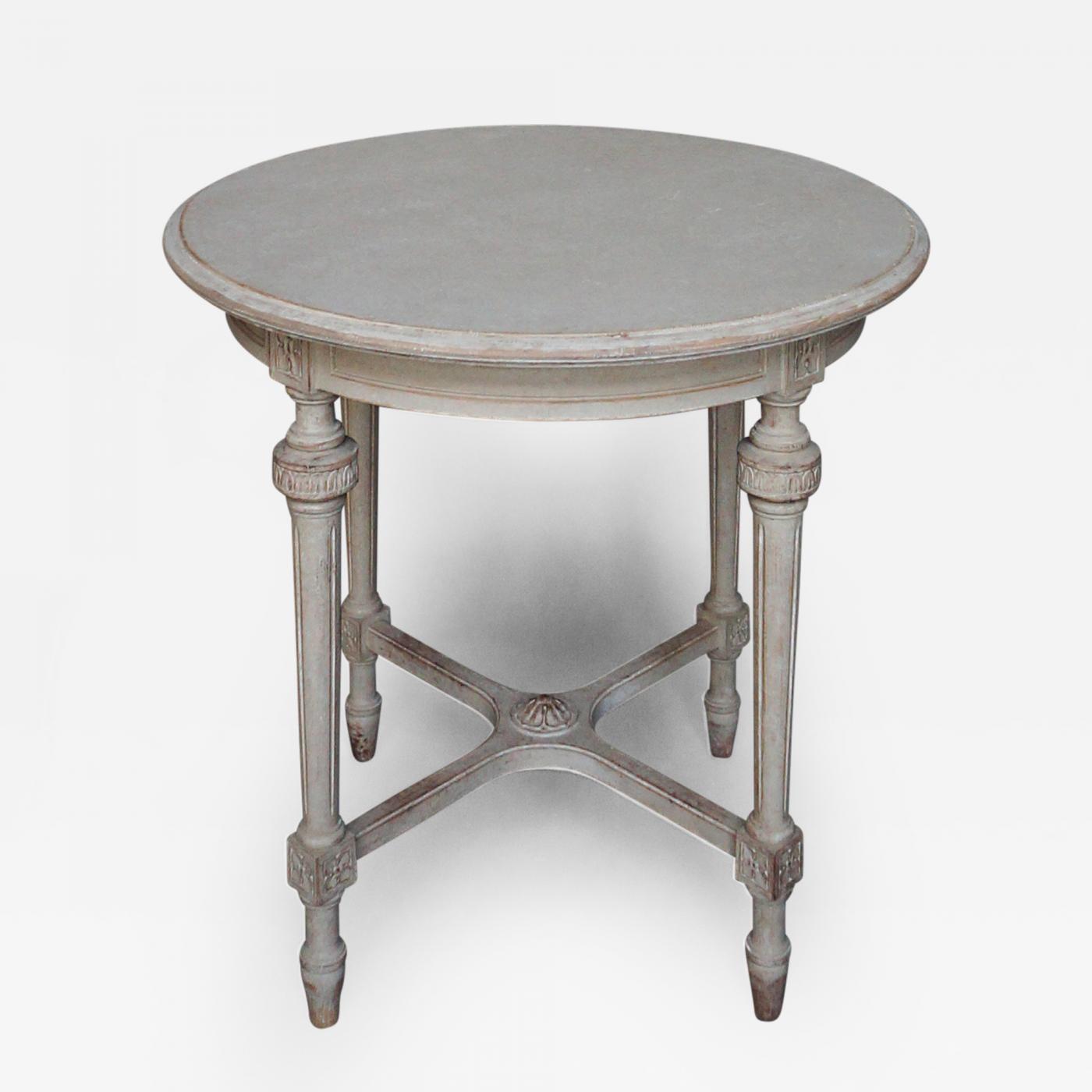 Gentil Listings / Furniture / Tables / Painted Tables · Round Swedish Side Table