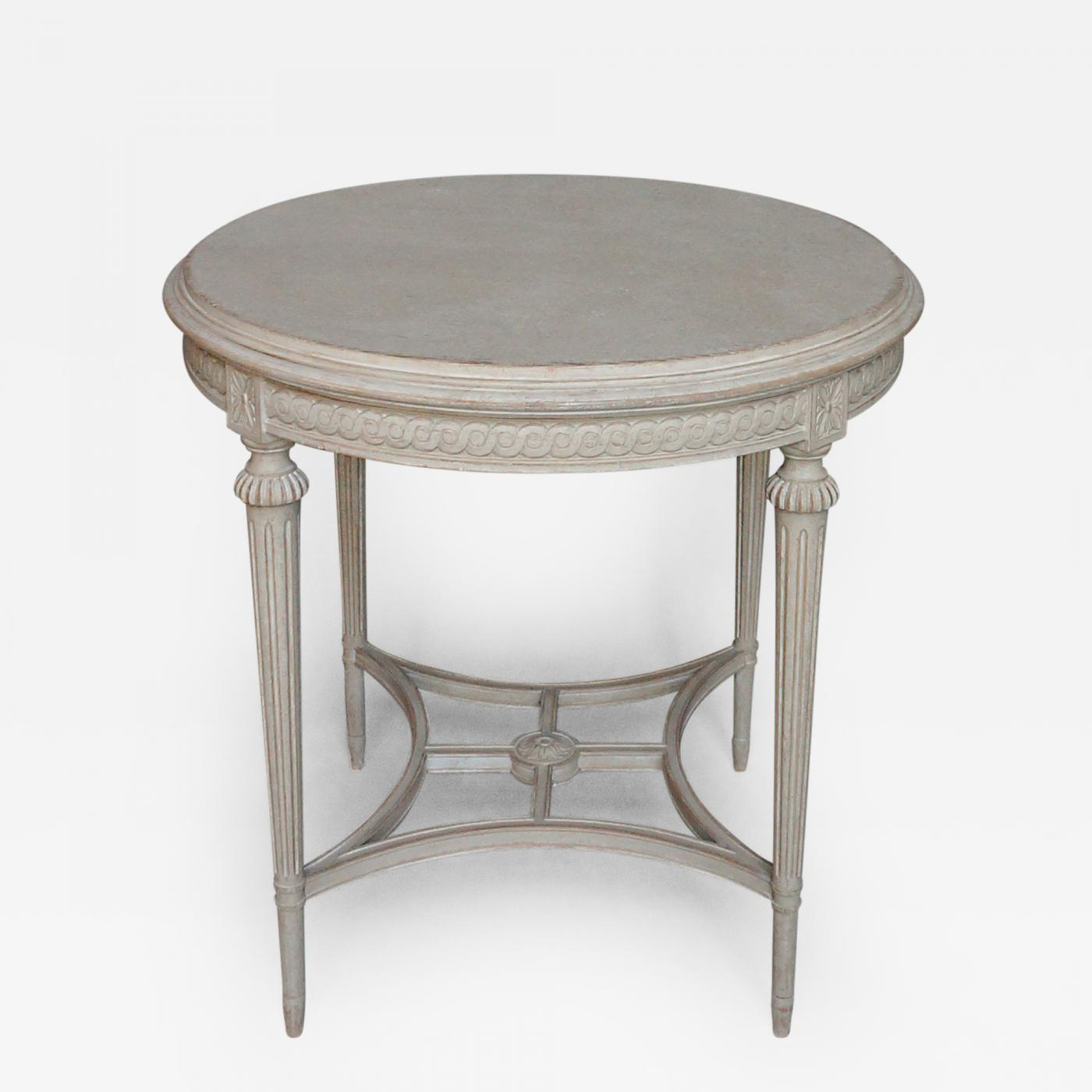 listings furniture tables painted tables round table in the gustavian style - Gustavian Style Furniture