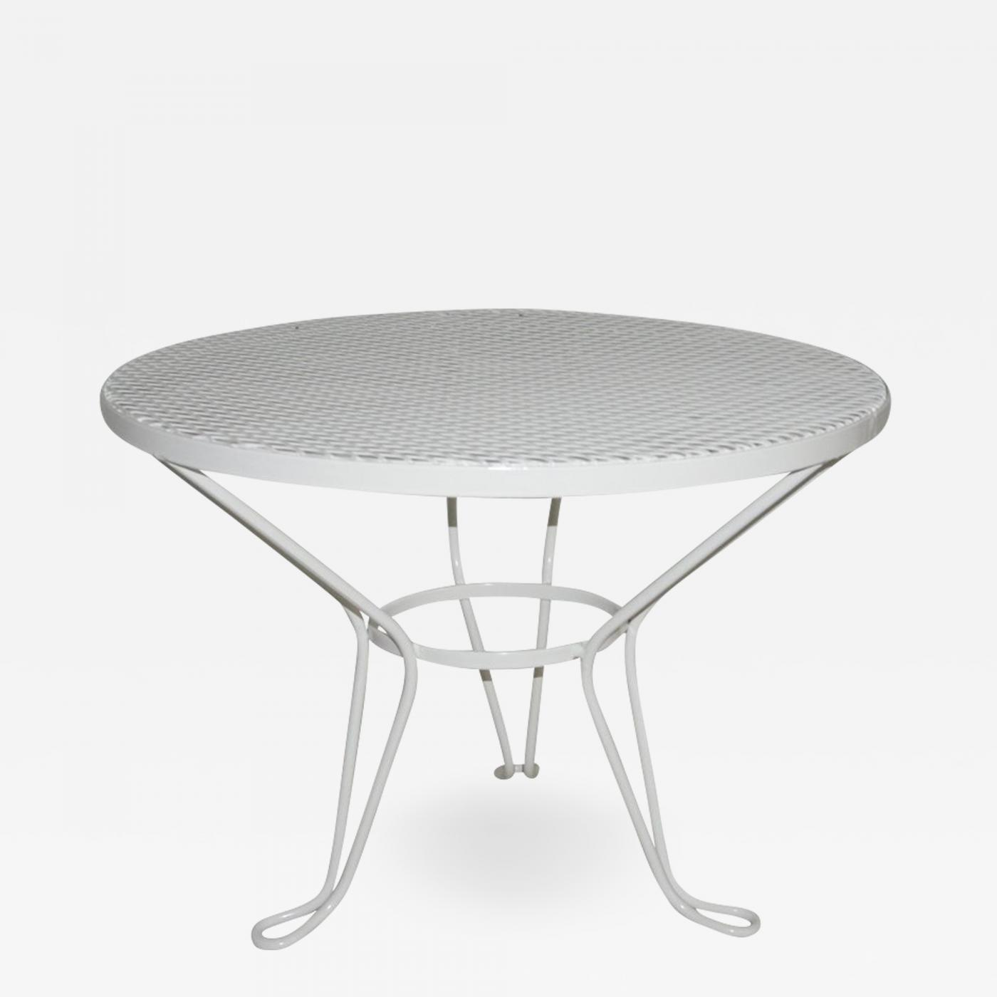 new style cc075 2891a Round White Patio Side Table