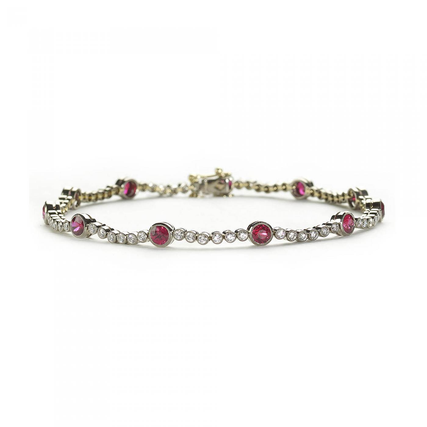 ruby diamond gold bracelet