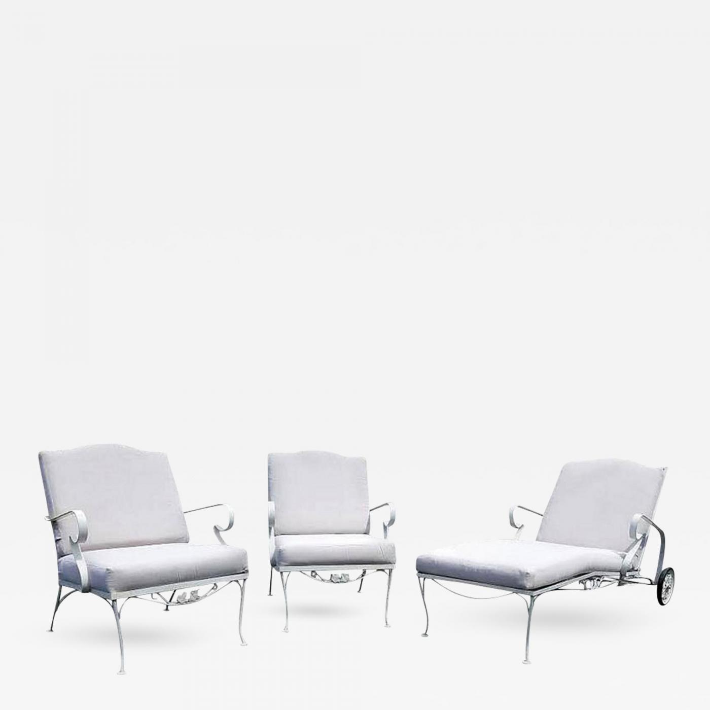 Pleasant Russell Woodard Woodard Furniture Vintage Three Piece Iron Patio Set By Russell Woodard Bralicious Painted Fabric Chair Ideas Braliciousco