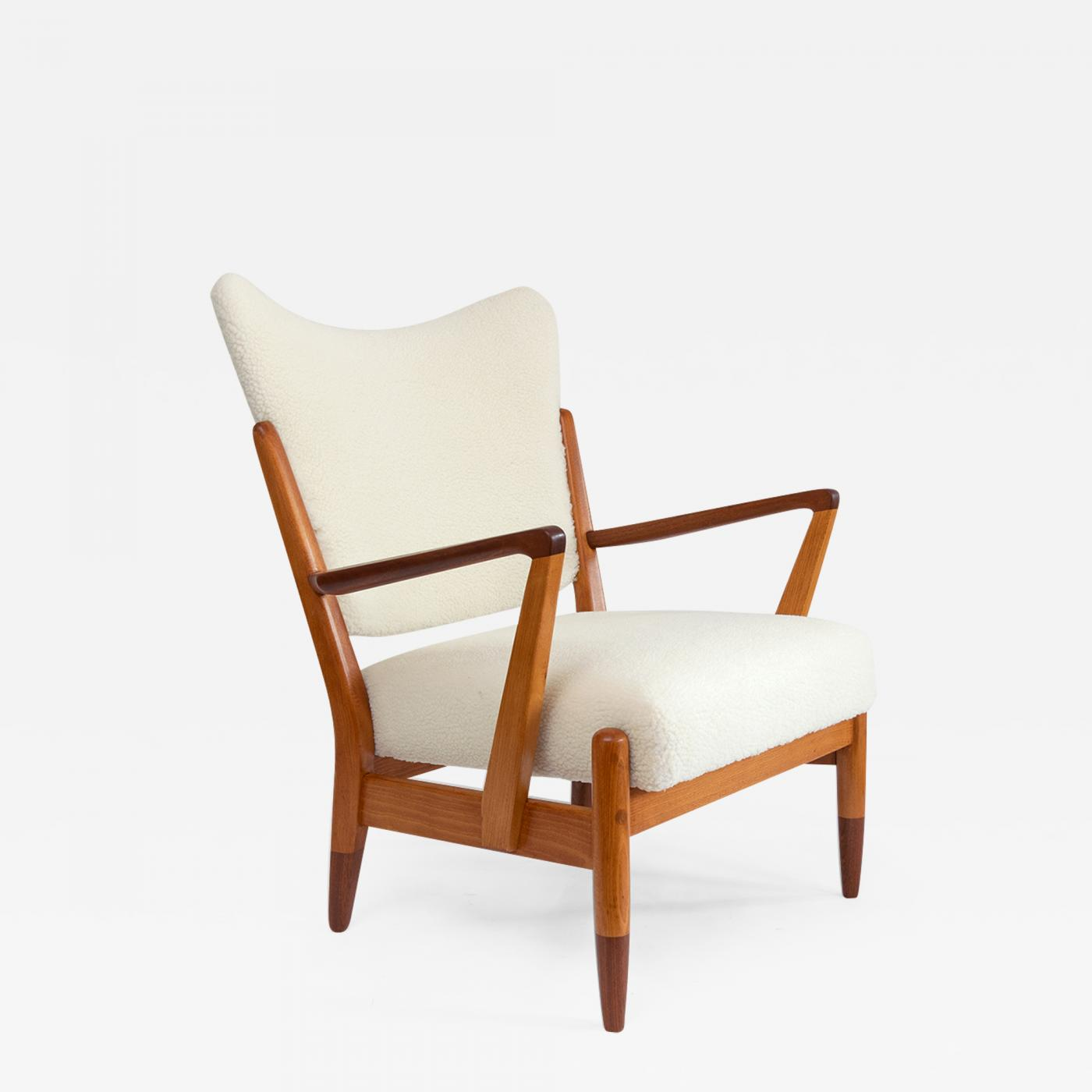 Awe Inspiring Scandinavian Modern Wingback Lounge Chair With Faux Sheepskin Gmtry Best Dining Table And Chair Ideas Images Gmtryco