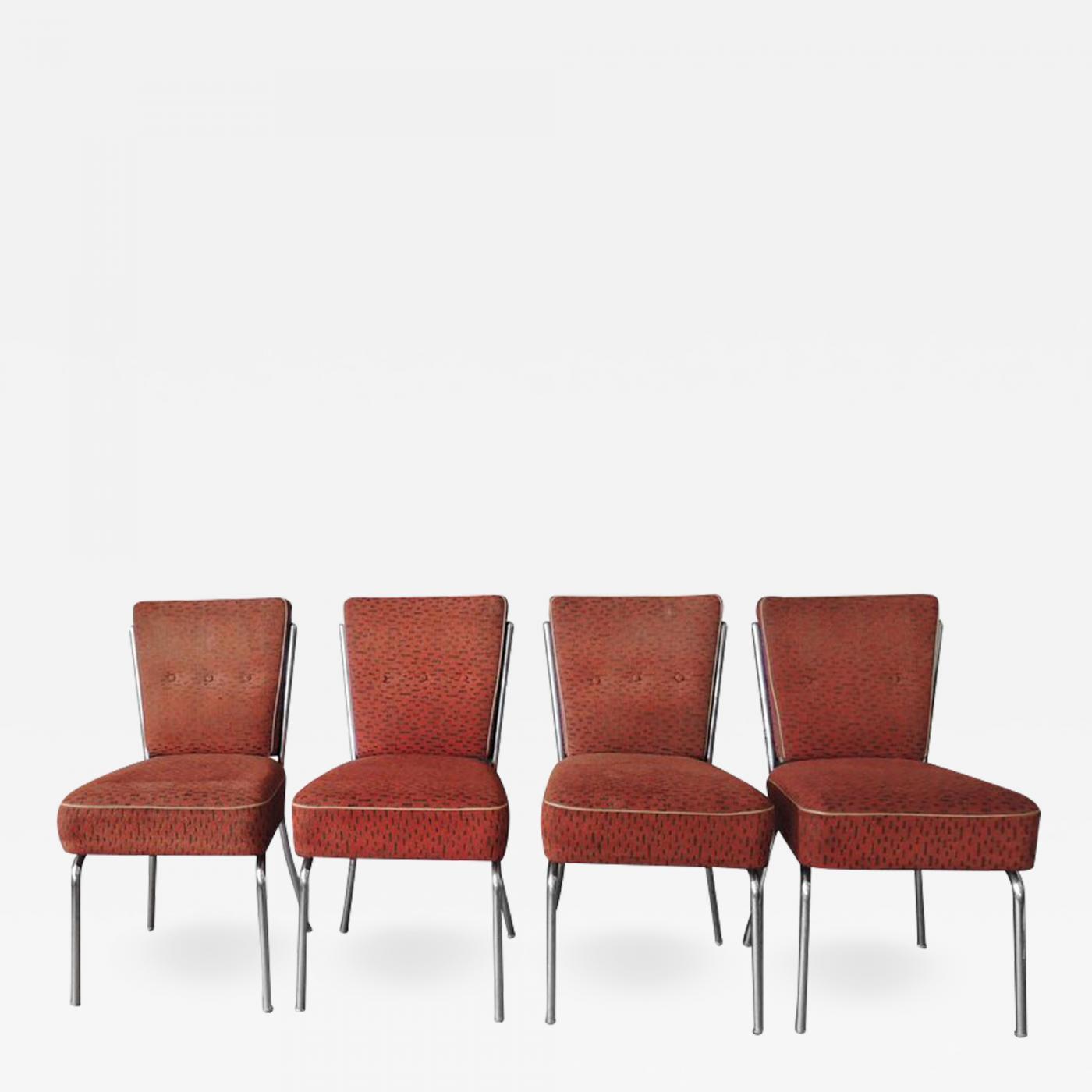 Admirable Set Of Four Czech 1930S Tubular Chrome Chairs Ncnpc Chair Design For Home Ncnpcorg