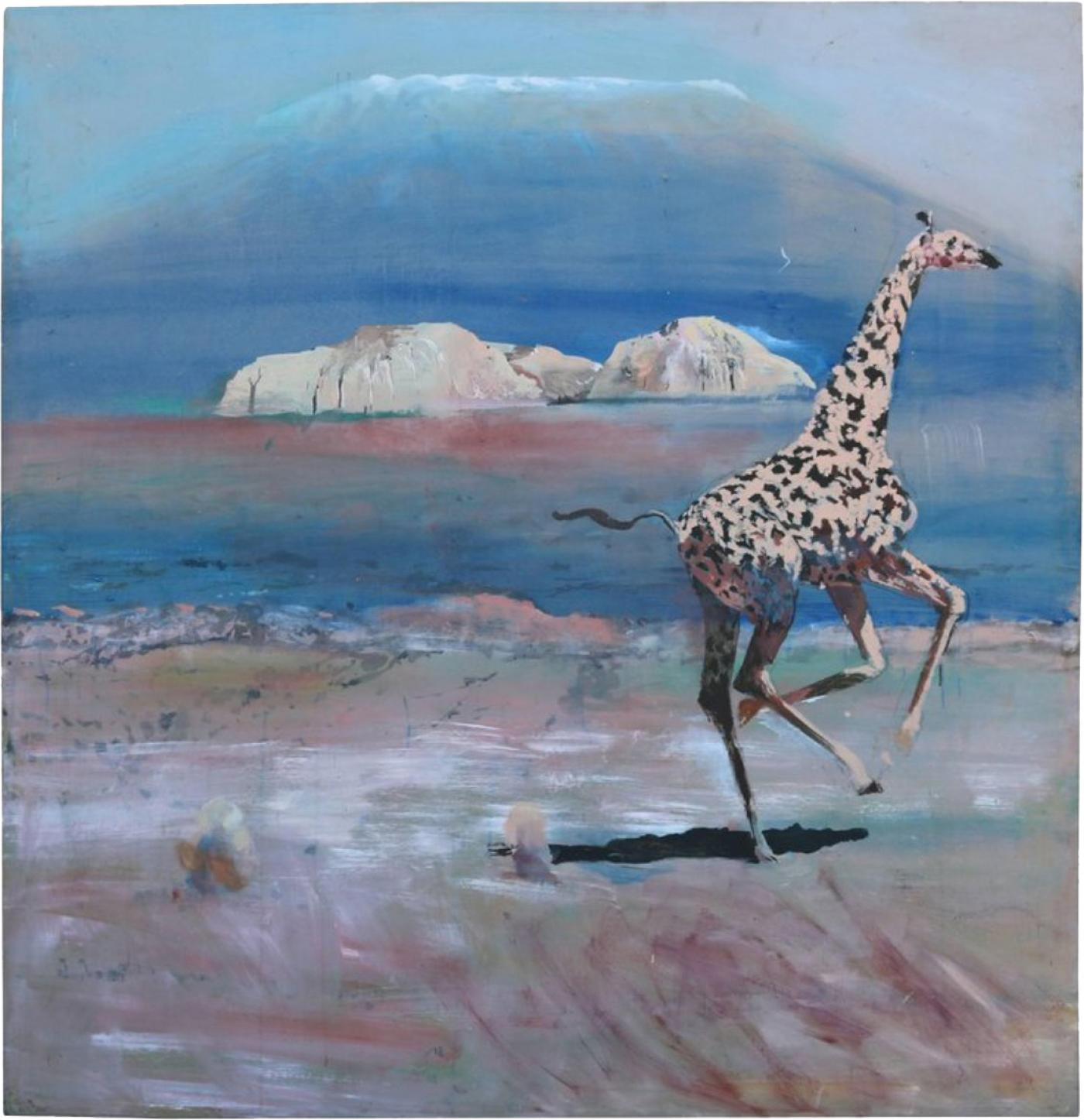 Sam Amato - Whimsical Oil Painting on Canvas of African Giraffe by ...