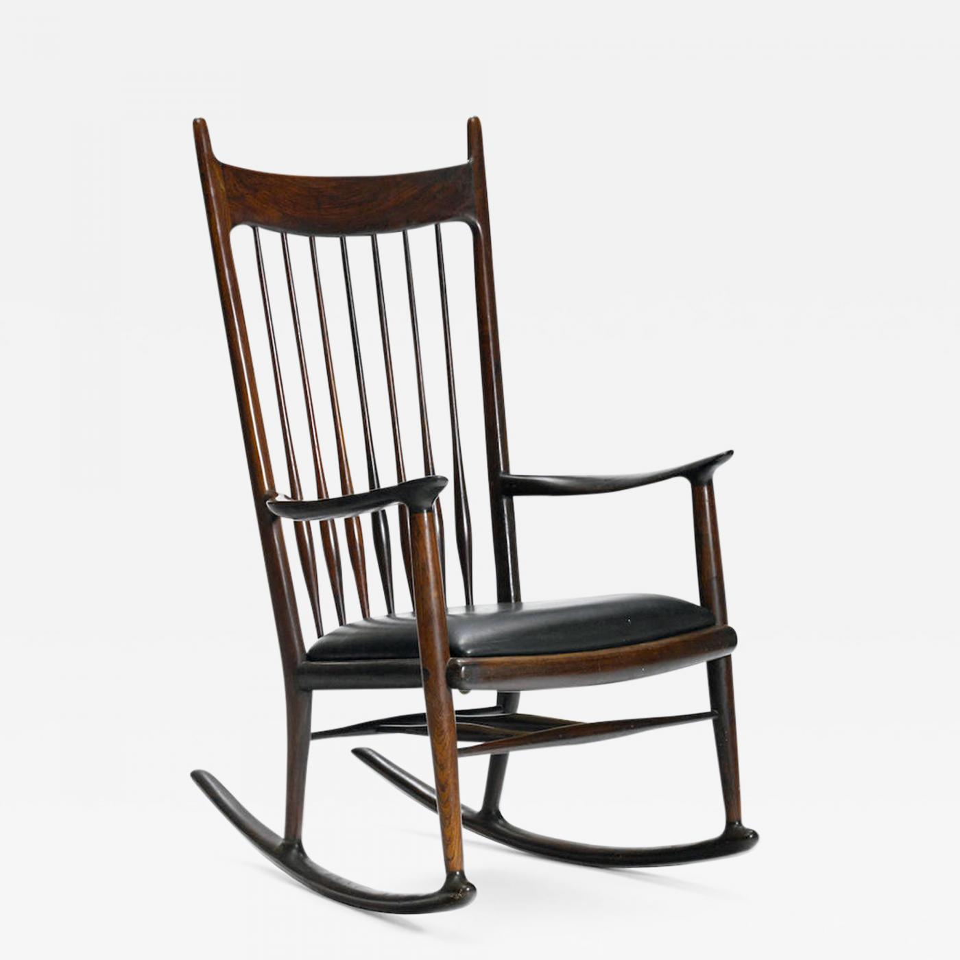 Sam Maloof An Early Rosewood Rocking Chair By Sam Maloof