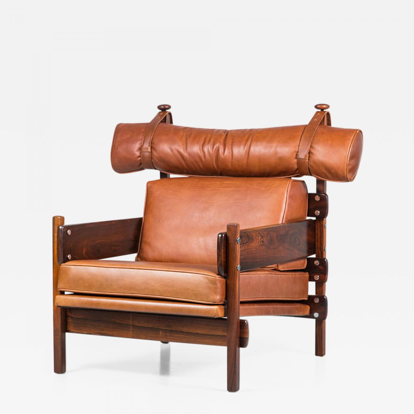 "Sergio Rodrigues ""Tonico"" Leather Chair by Sergio Rodrigues"