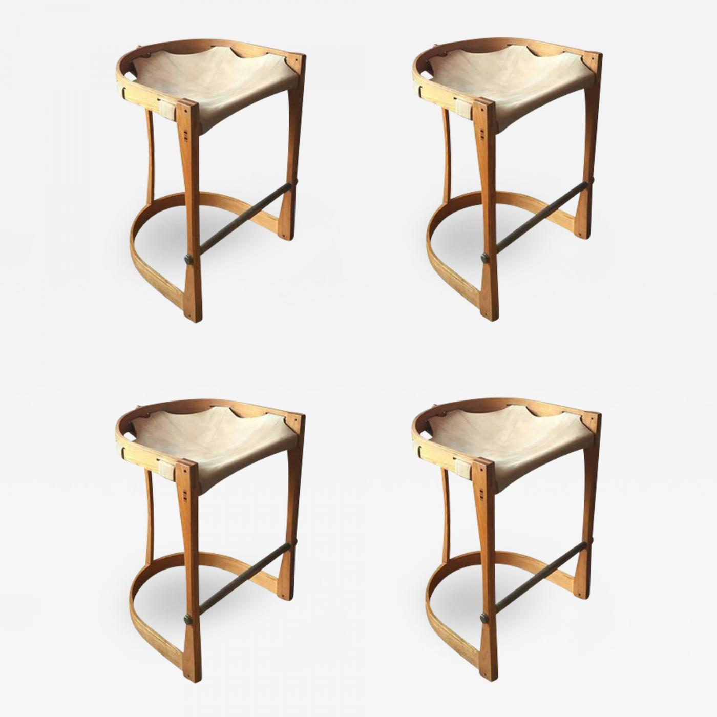 Groovy Set Of Four American Studio Craft Counter Stools Beatyapartments Chair Design Images Beatyapartmentscom