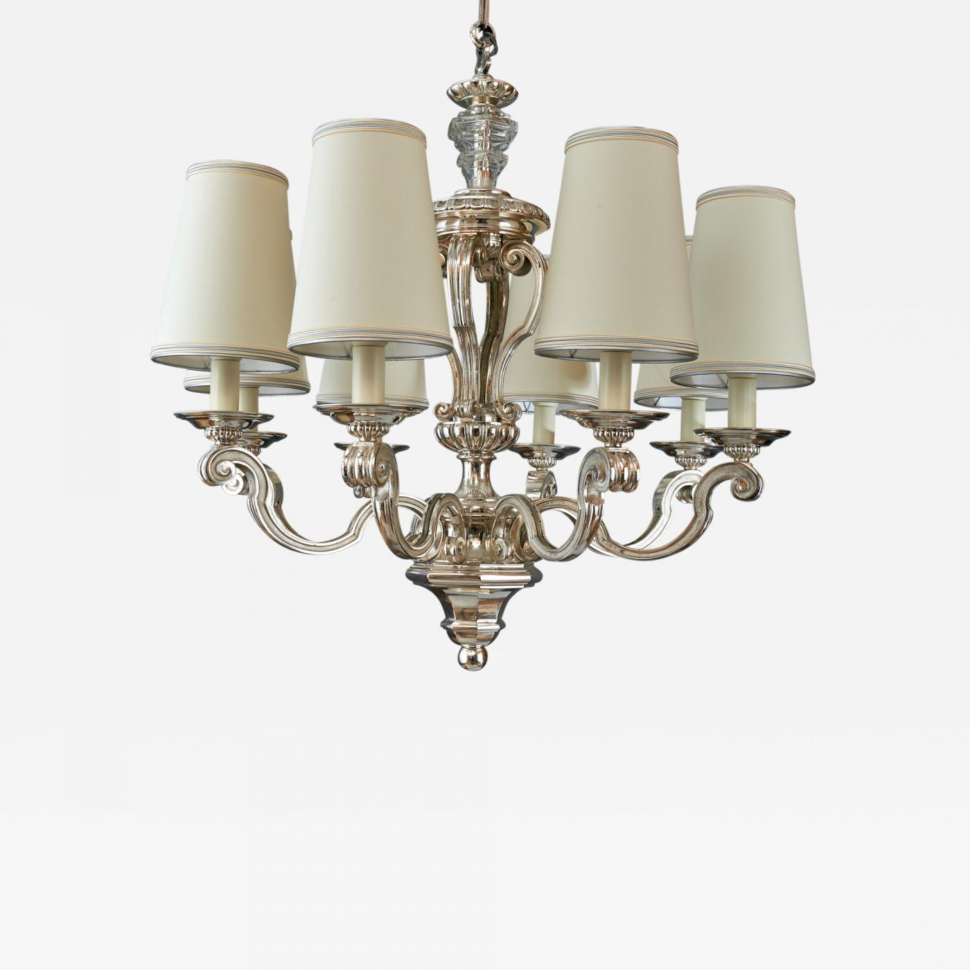 Silvered bronze neo classical chandelier france 1950s listings furniture lighting chandeliers and pendants aloadofball Image collections