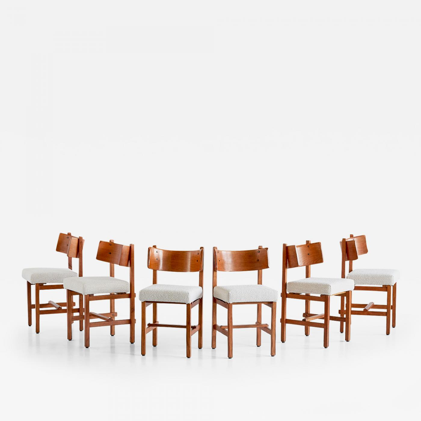 Sensational Simon Packo Set Of Six Oak Dining Chairs By Simon Packo Blankenberge Belgium 1972 Caraccident5 Cool Chair Designs And Ideas Caraccident5Info