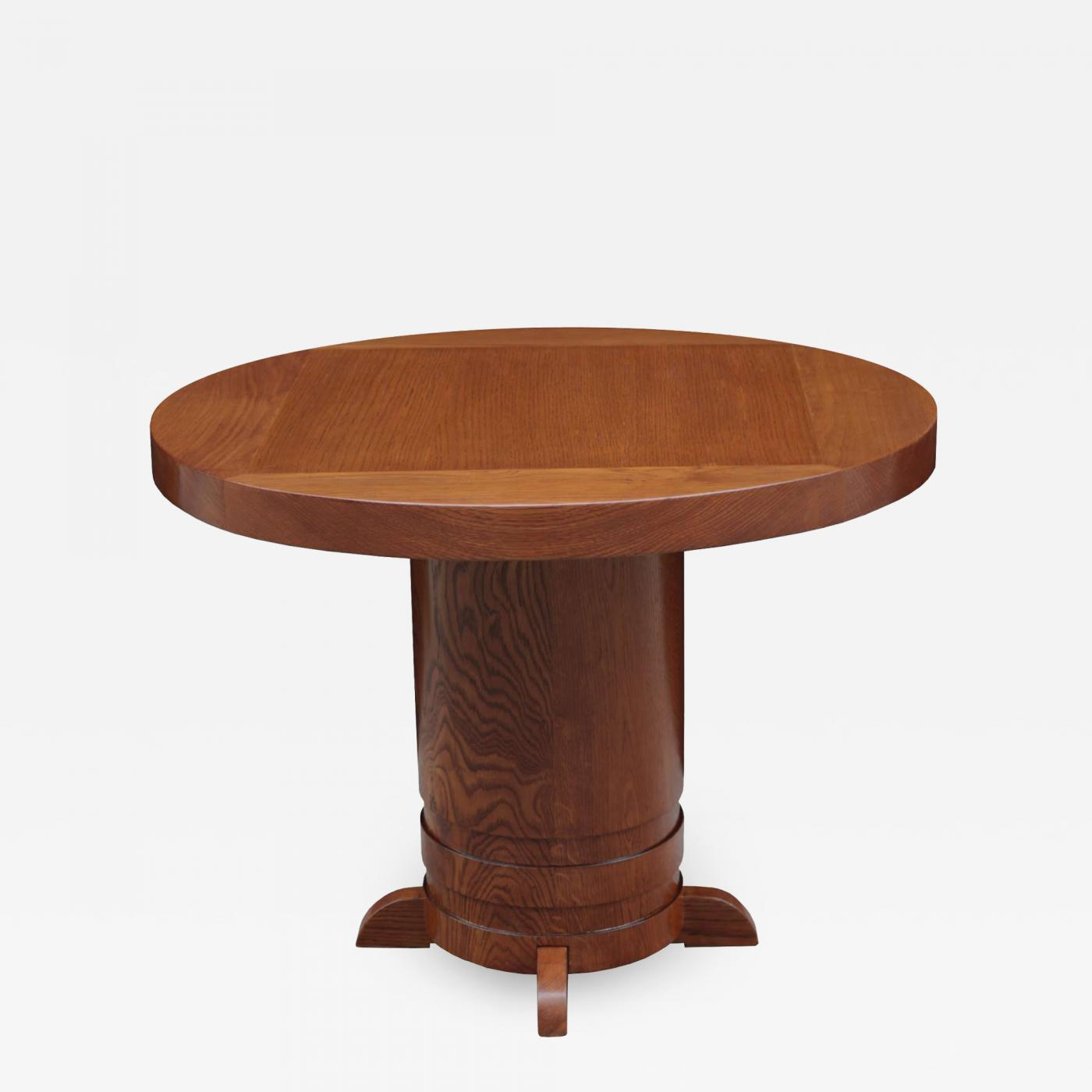 Single Round Art Deco Side Table