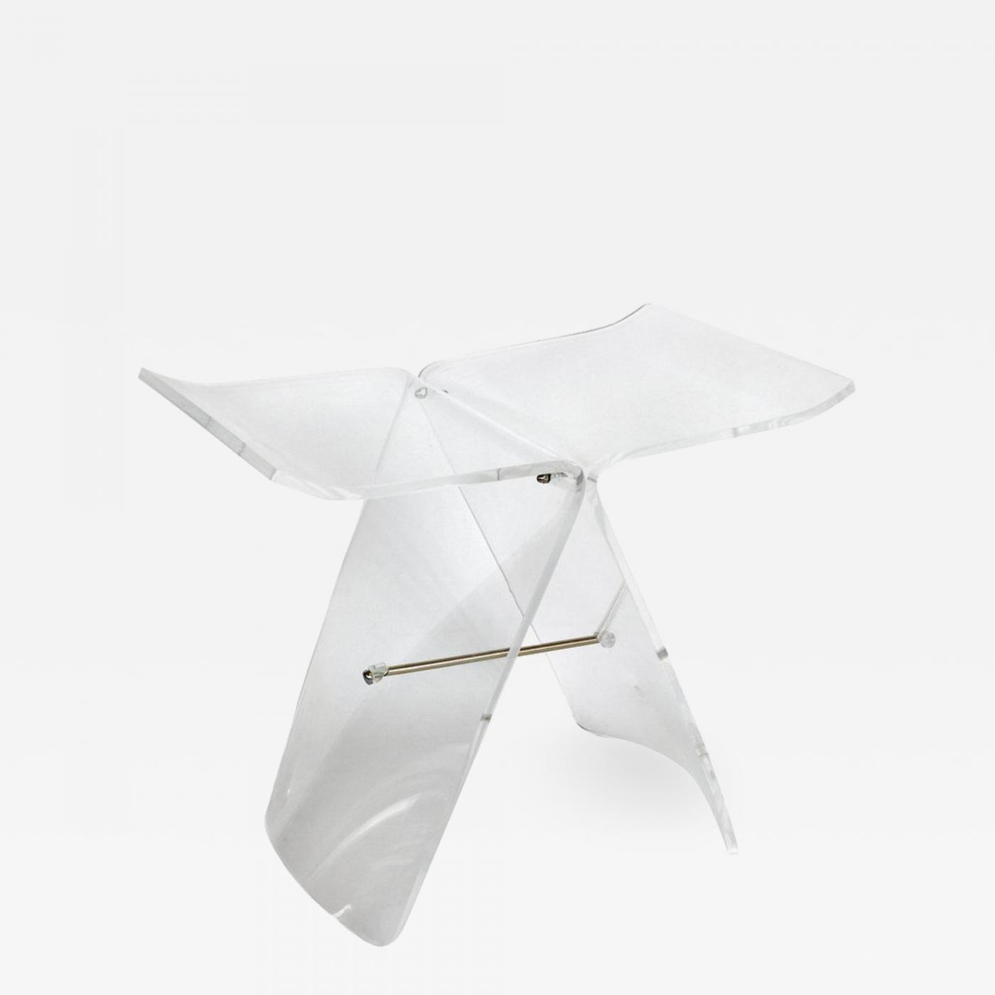 Sori Yanagi Lucite Butterfly Stool After The Original Bentwood Stool By Sori Yanagi