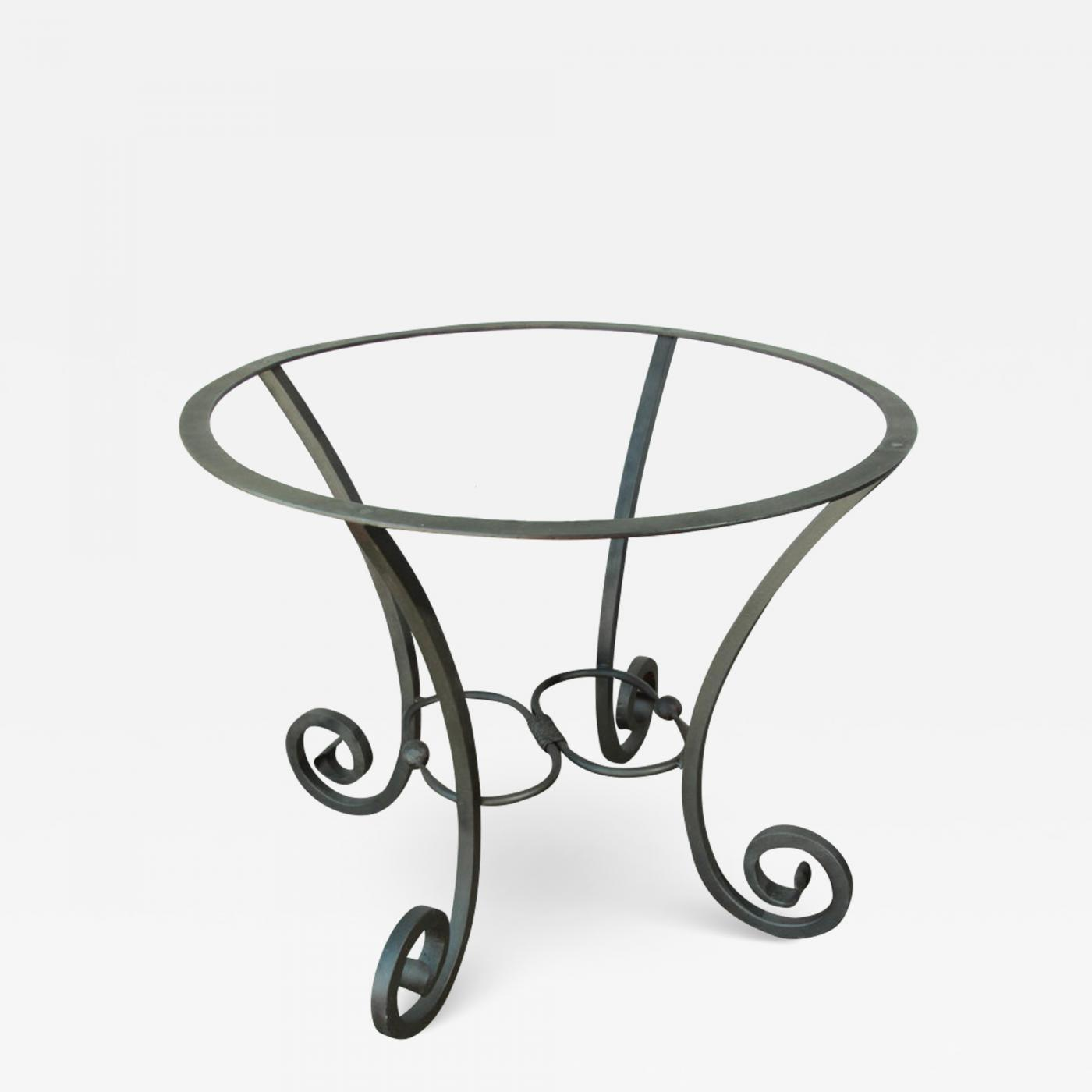 Picture of: Spanish Wrought Iron Dining Table Pedestal Base Indoor Or Outdoor