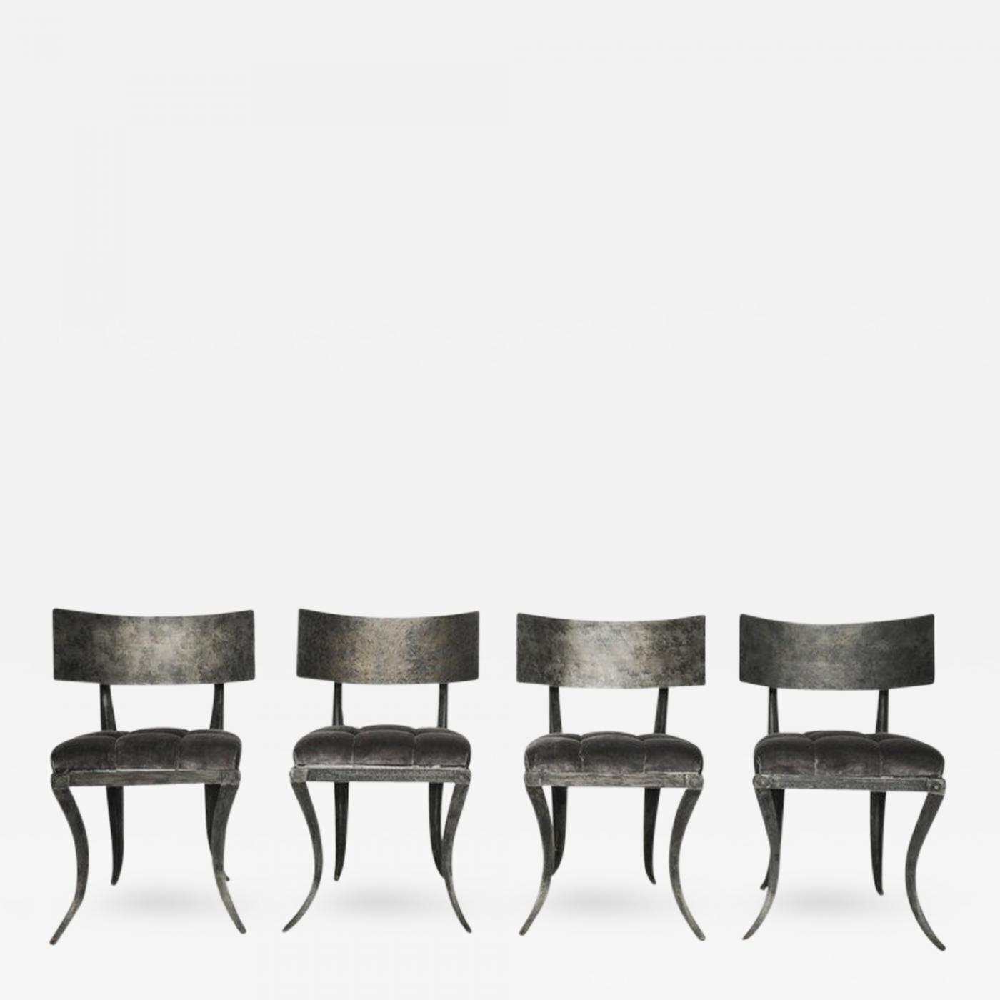 Steel Klismos Chairs