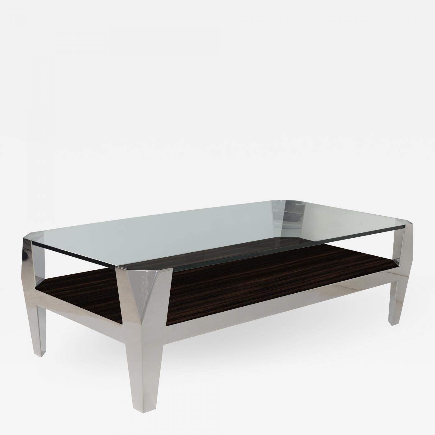 Stephen Tomar Furniture Orbit Coffee Table With Wood Shelf - Orbit coffee table