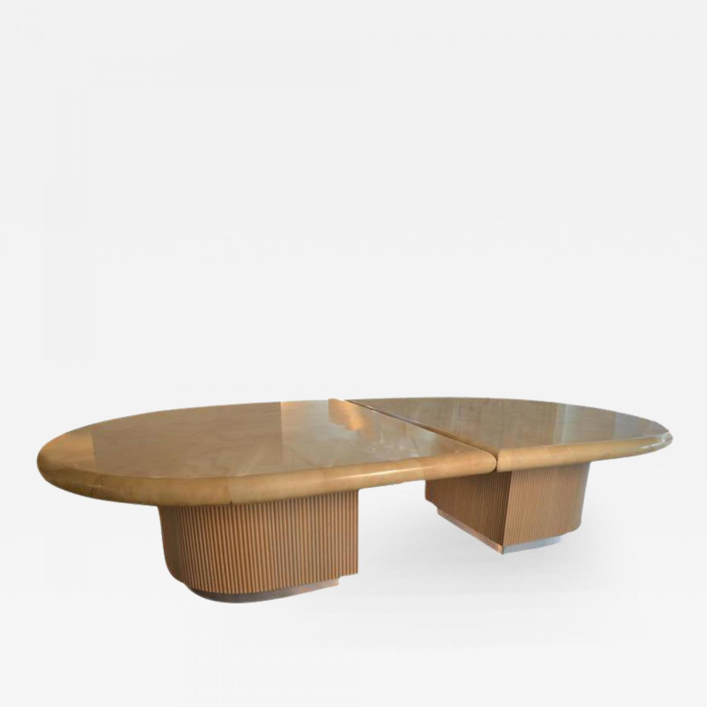 Steve Chase Piece Mid Century Modern Lacquered Goatskin Dining - Mid century modern conference table