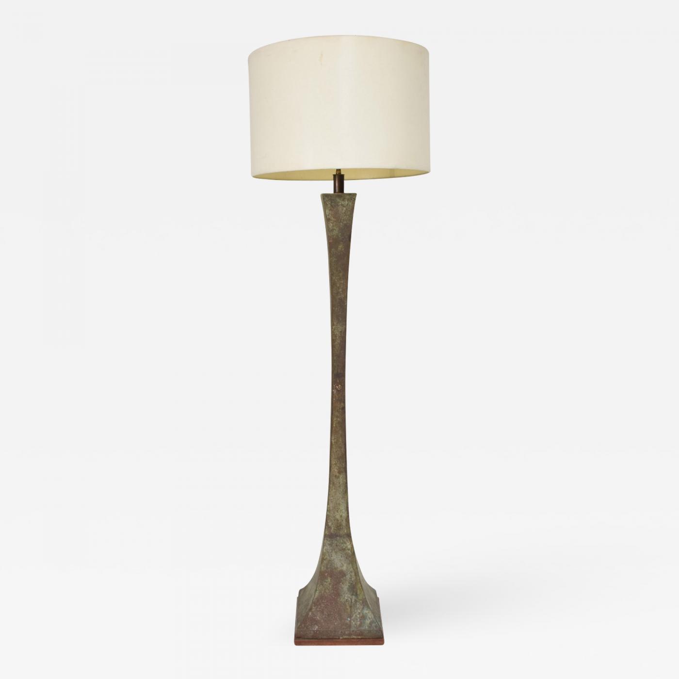 Image of: Stewart Ross James Mid Century Modern Bronze Floor Lamp With Verdigris Patina Stewart Ross Hansen