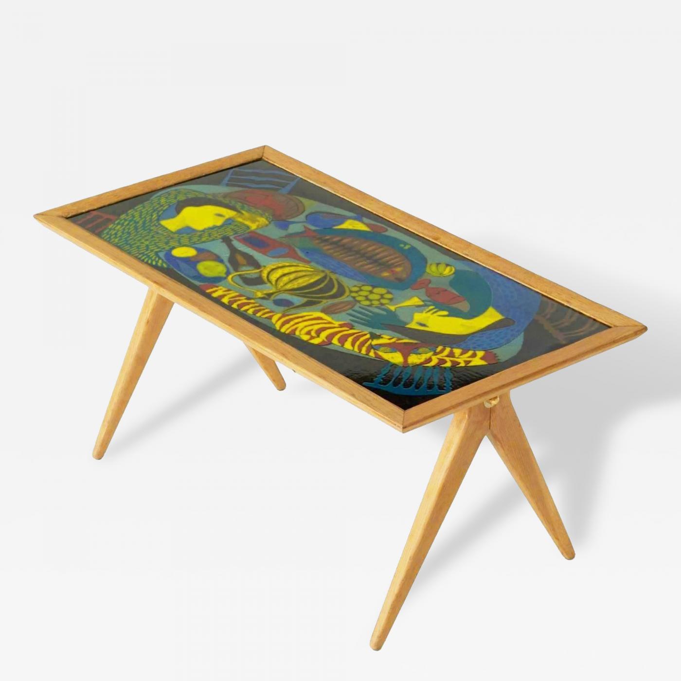 Stig Lindberg Enamel Coffee Table by Stig Lindberg and David