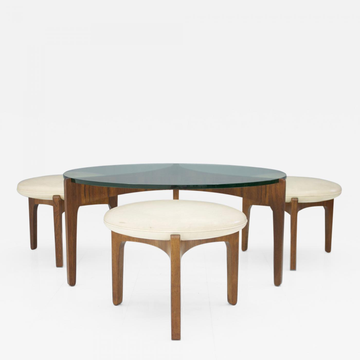 Coffee Table With Stools.Sven Ellekaer Sven Ellekaer Three Leg Coffee Table And Three Stools Christian Linneberg