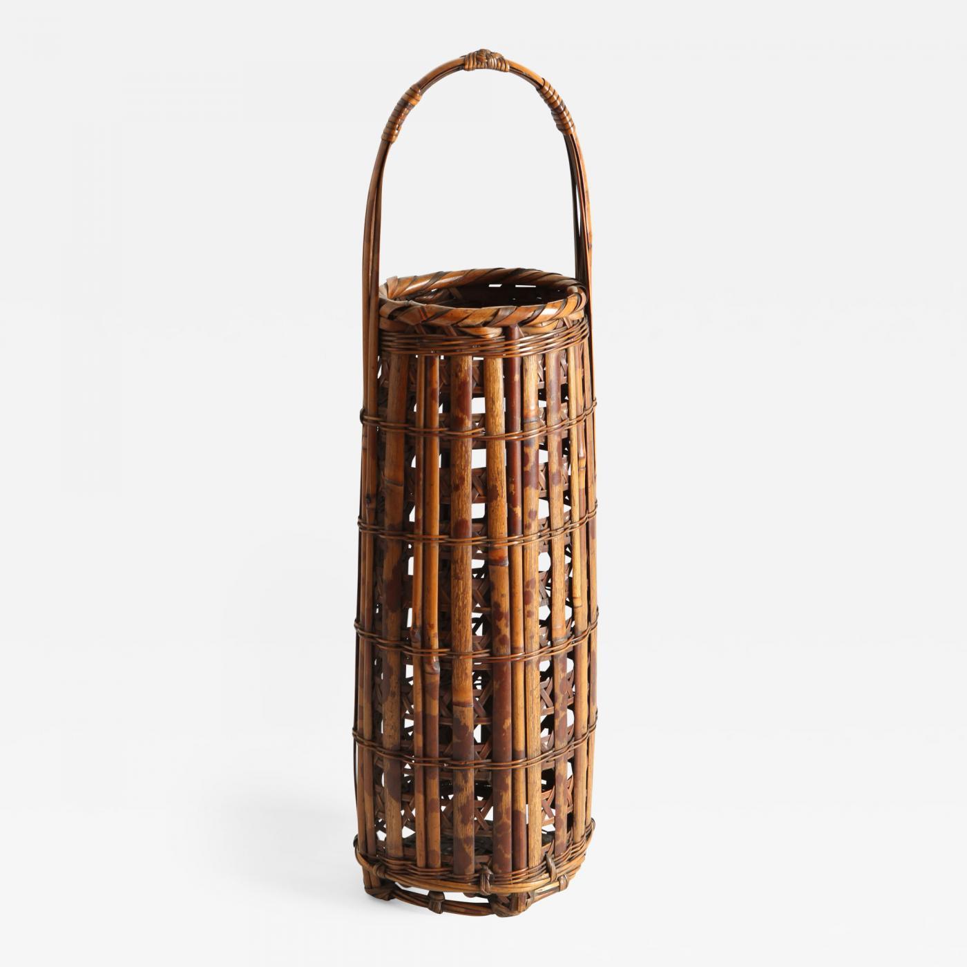 Bamboo Basket Making Supplies : Tanabe chikuunsai i bamboo ikebana basket
