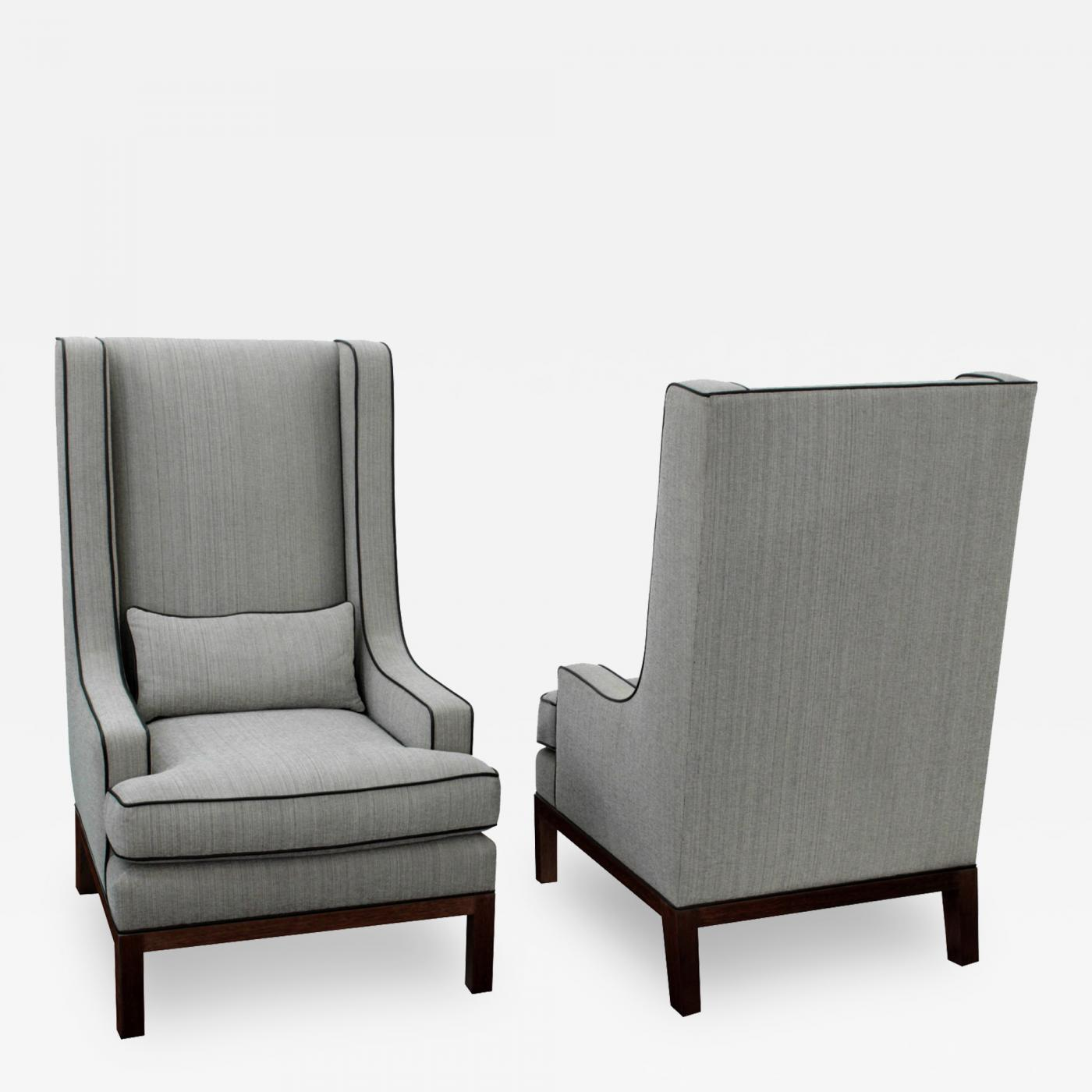Beau Listings / Furniture / Seating / Lounge Chairs · Thad Hayes Pair Of Custom High  Back Club ...
