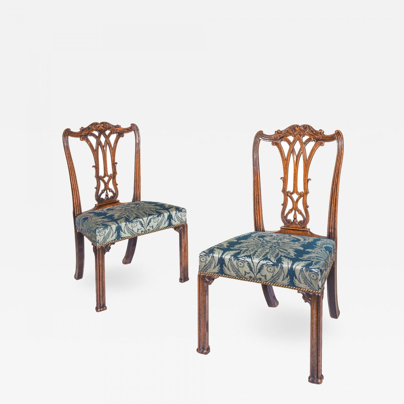 Fine Pair Of George Iii Chippendale Gothic Chairs