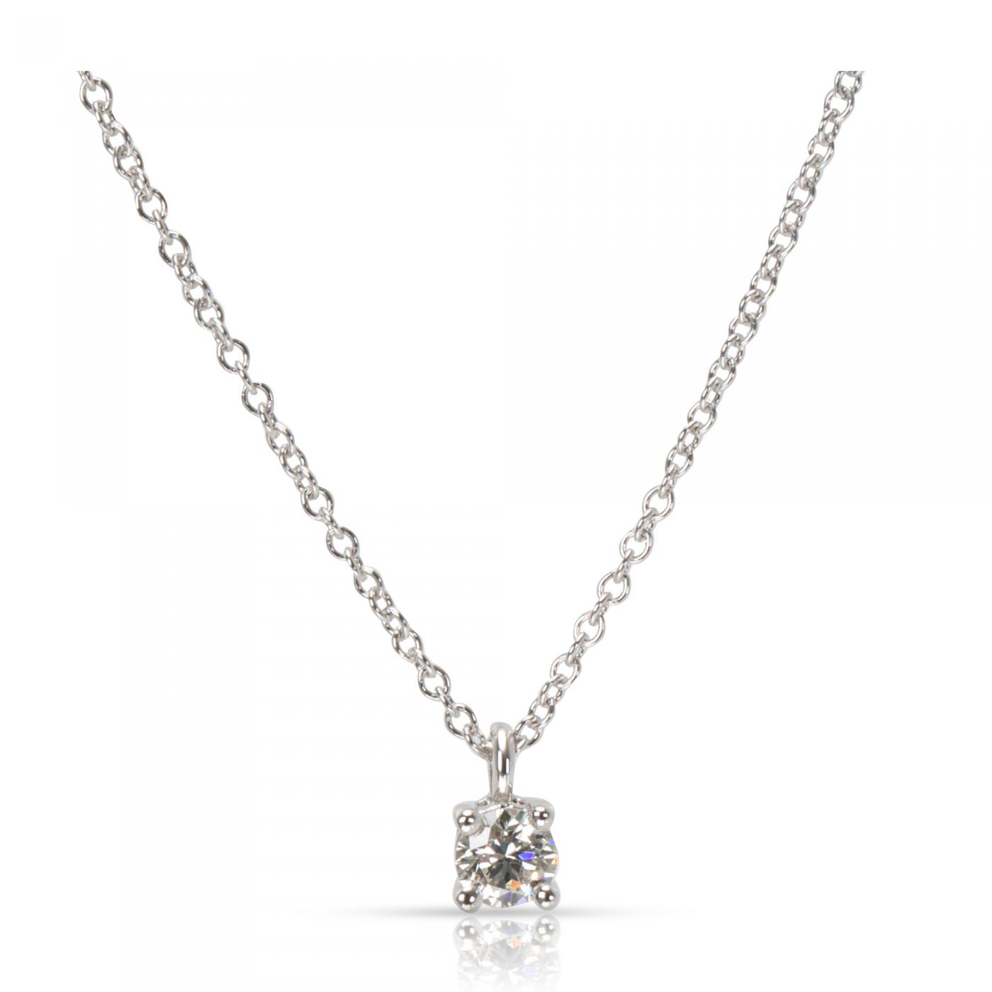 Tiffany And Co Tiffany Co Diamond Solitaire Pendant In Platinum 0 18 Ctw
