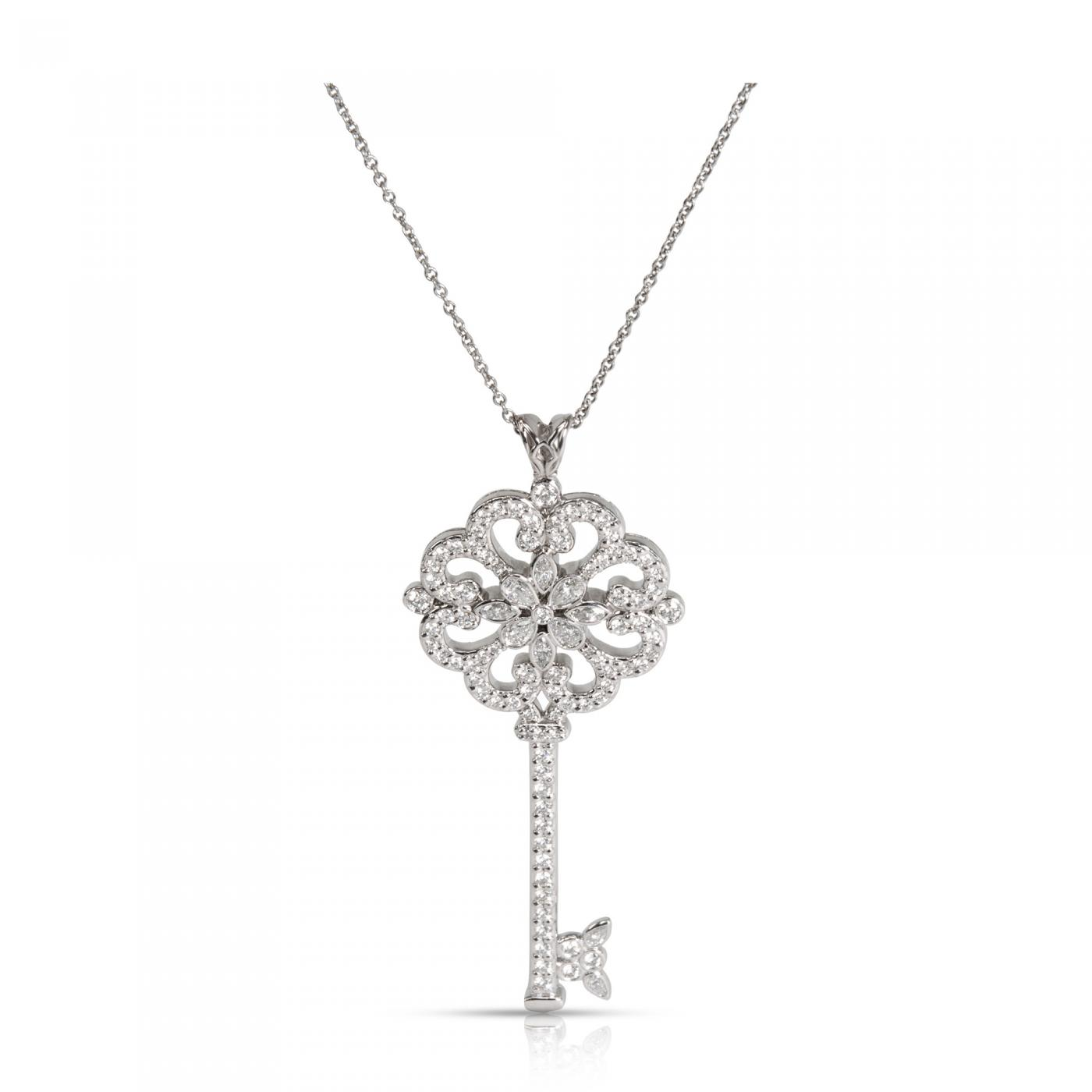 Tiffany And Co Tiffany Co Enchant Primrose Diamond Key Pendant In Platinum 0 98 Ctw
