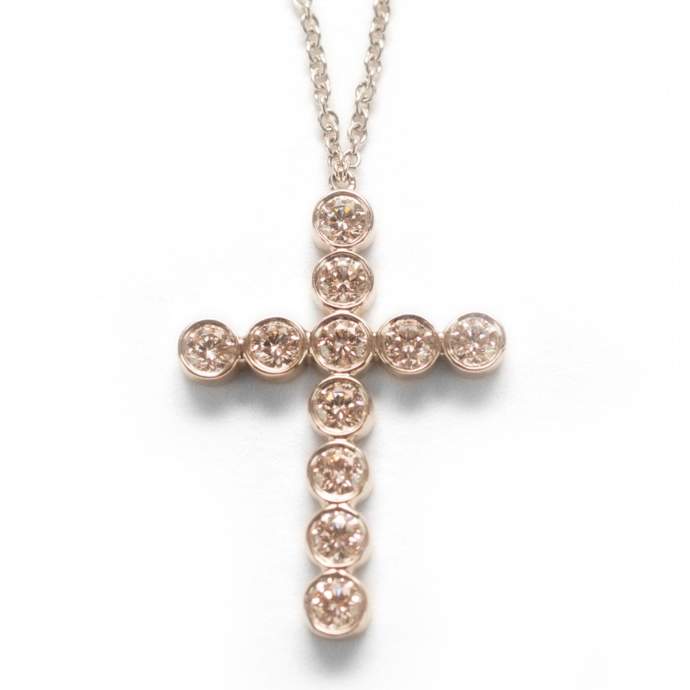tiffany and co tiffany co diamond cross necklace. Black Bedroom Furniture Sets. Home Design Ideas